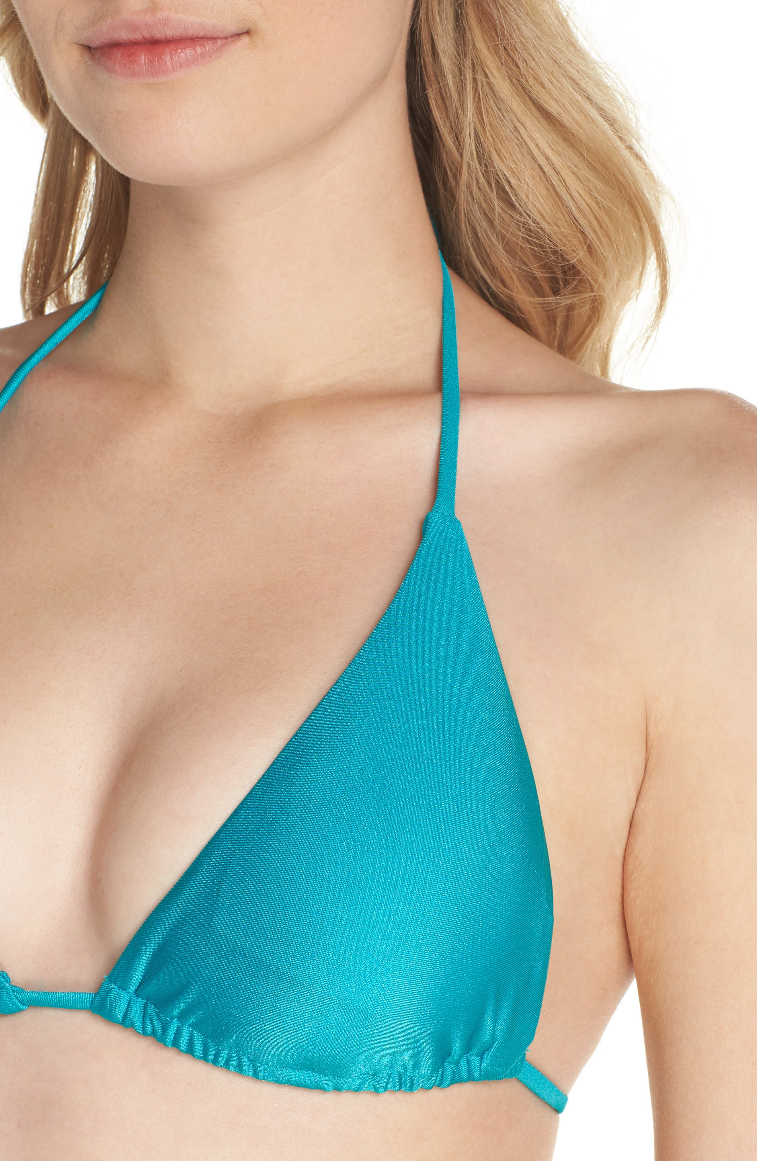 Shimmer Triangle Bikini Top,                             Alternate thumbnail 4, color,                             Arcadia