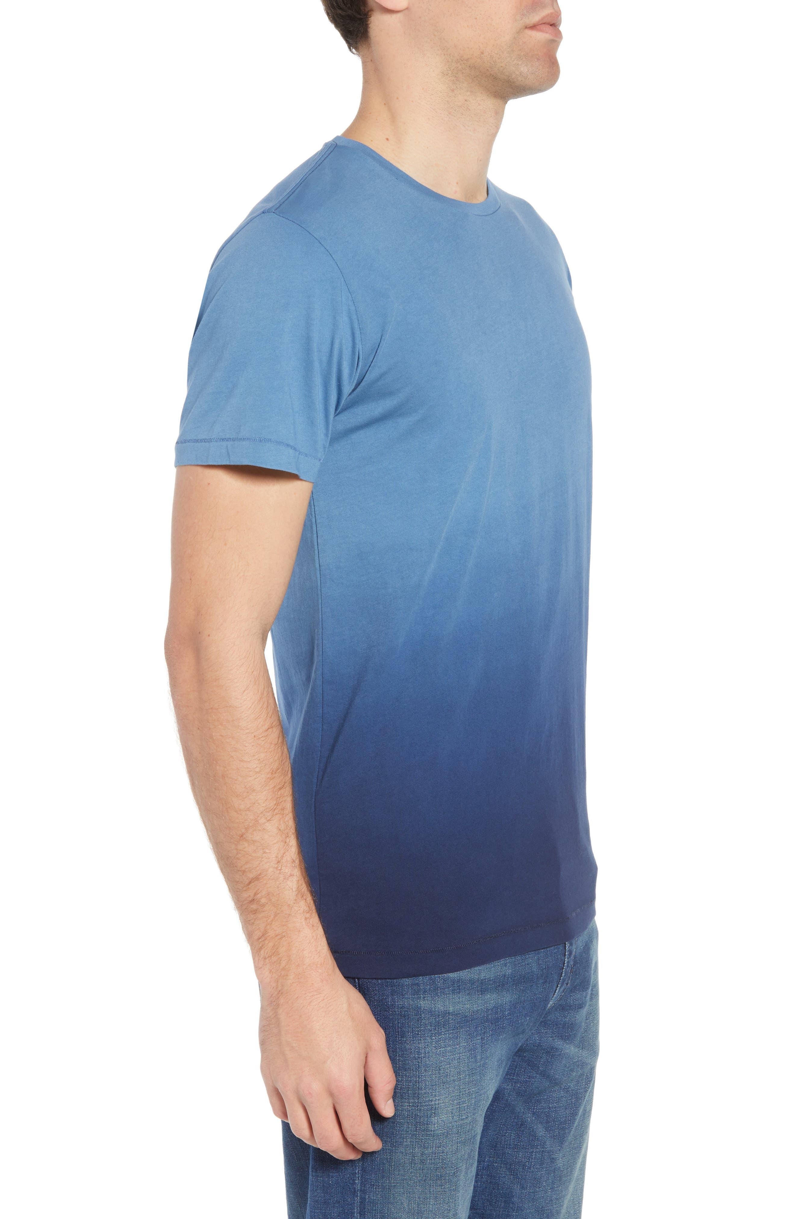 Dip Dye T-Shirt,                             Alternate thumbnail 3, color,                             Navy Ombre