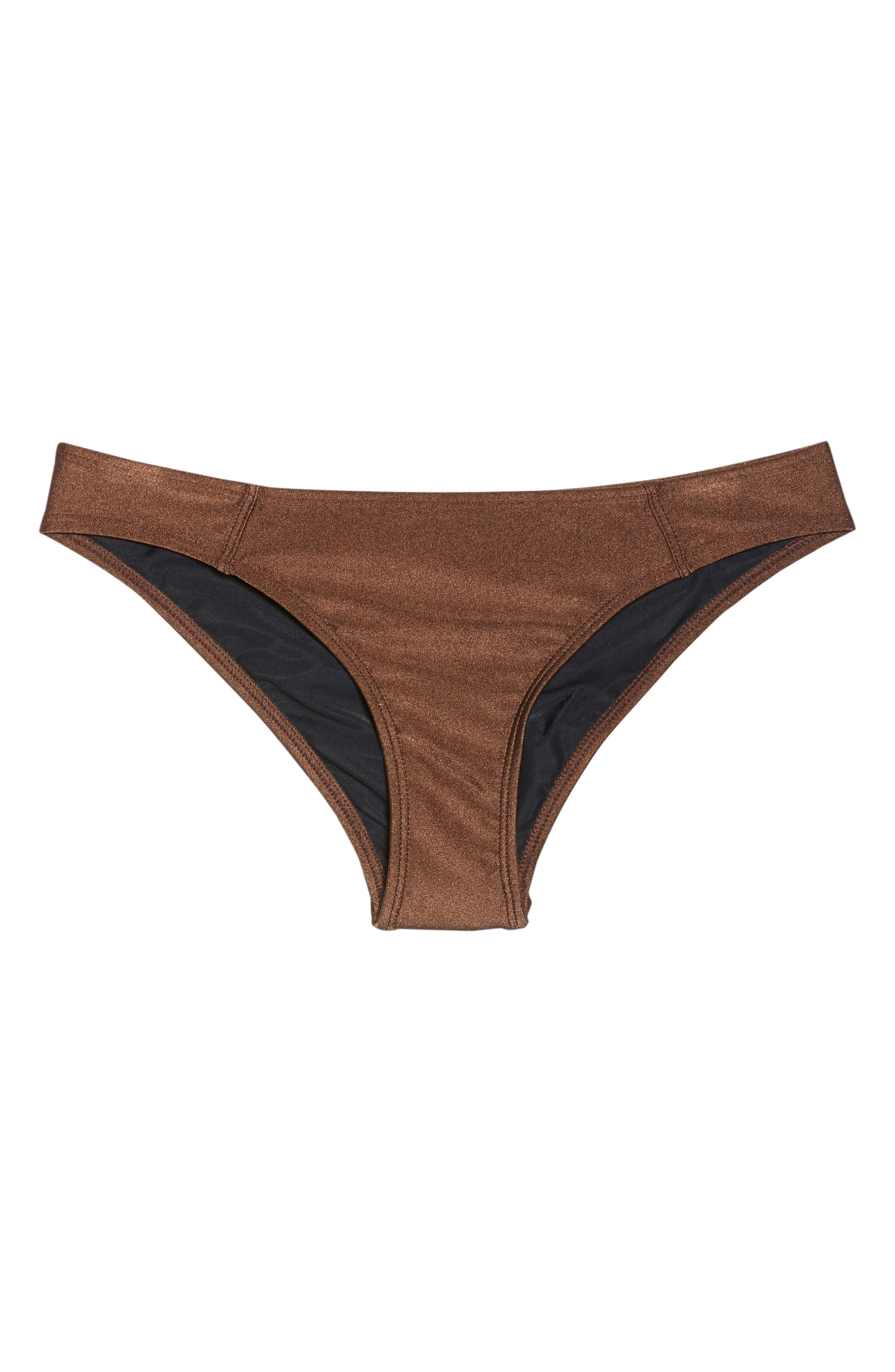 Banded Hipster Bikini Bottoms,                             Alternate thumbnail 6, color,                             Chocolate Glint
