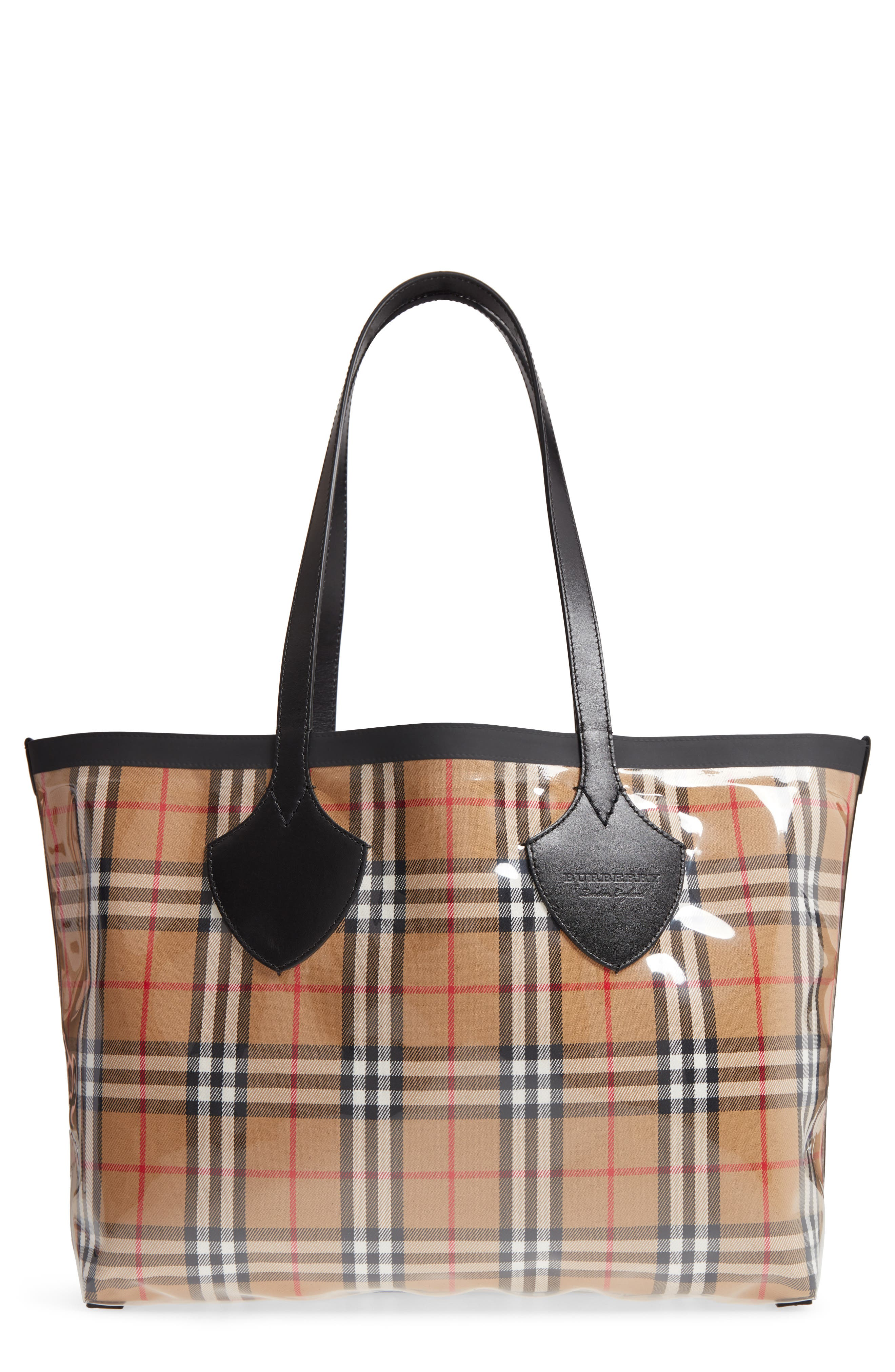 Burberry Giant Vintage Transparent/Check Reversible Tote