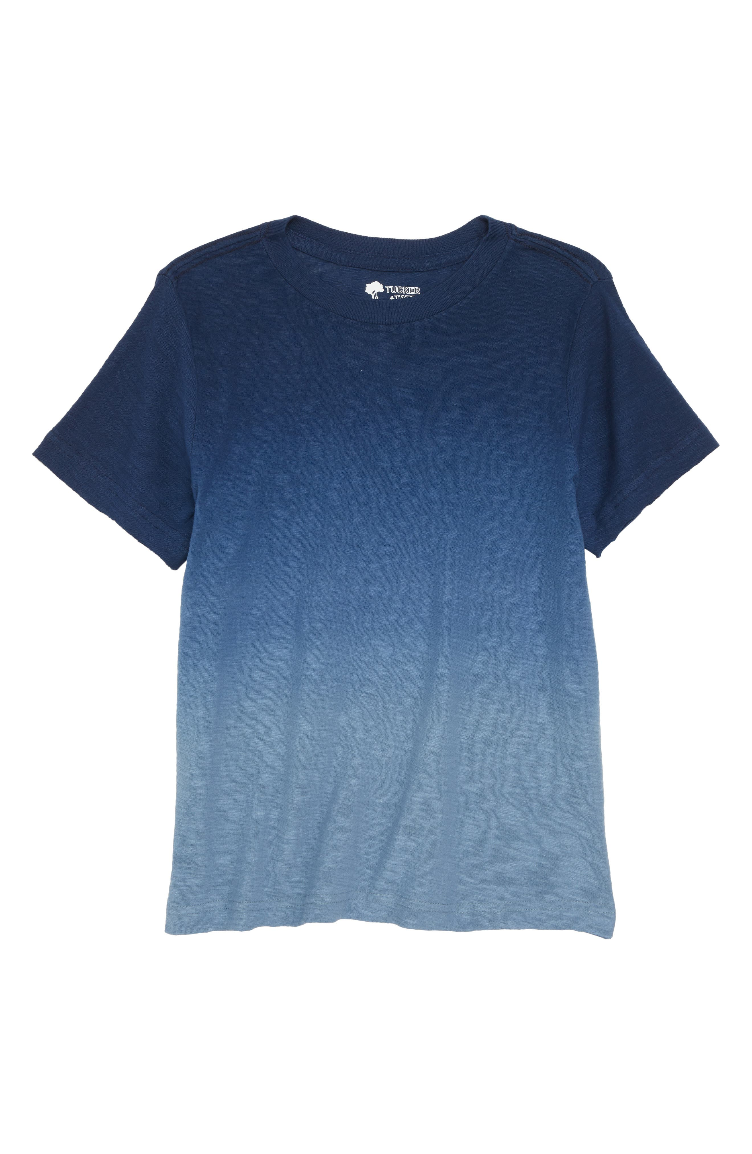 Dip Dye T-Shirt,                         Main,                         color, Navy Medieval- Blue