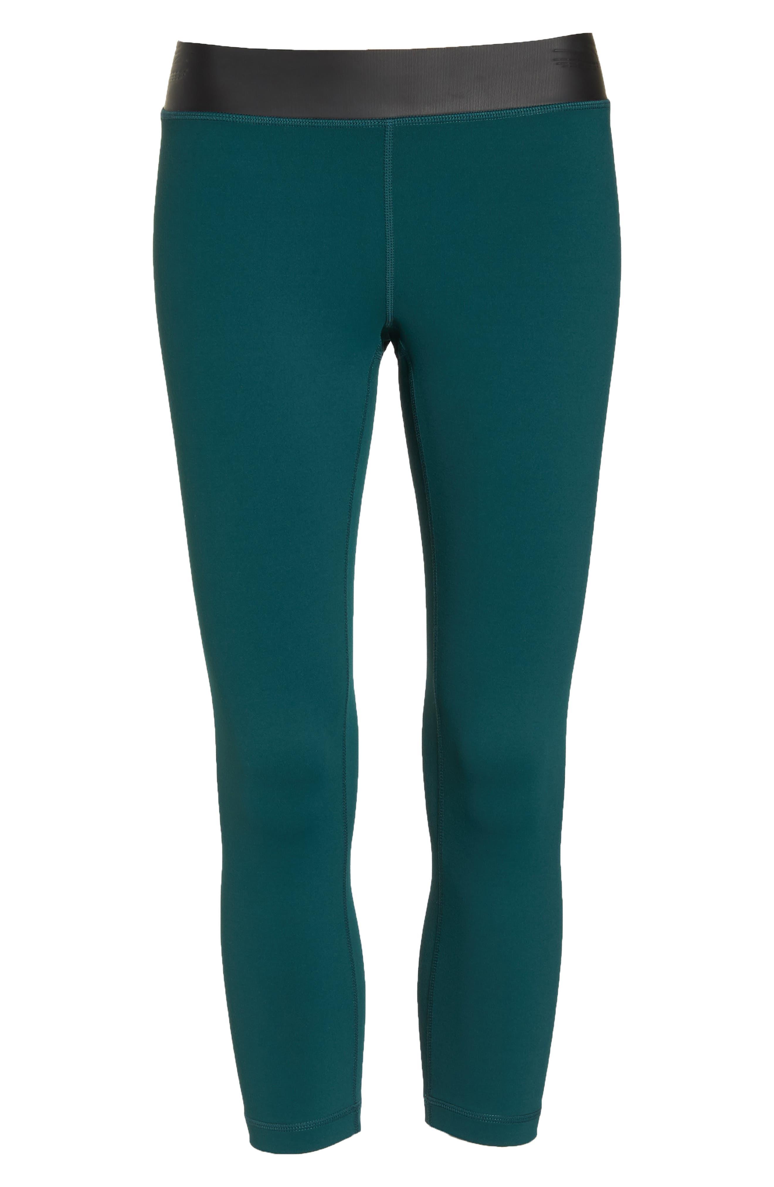 Neo Banded Crop Leggings,                             Alternate thumbnail 7, color,                             Green Bug