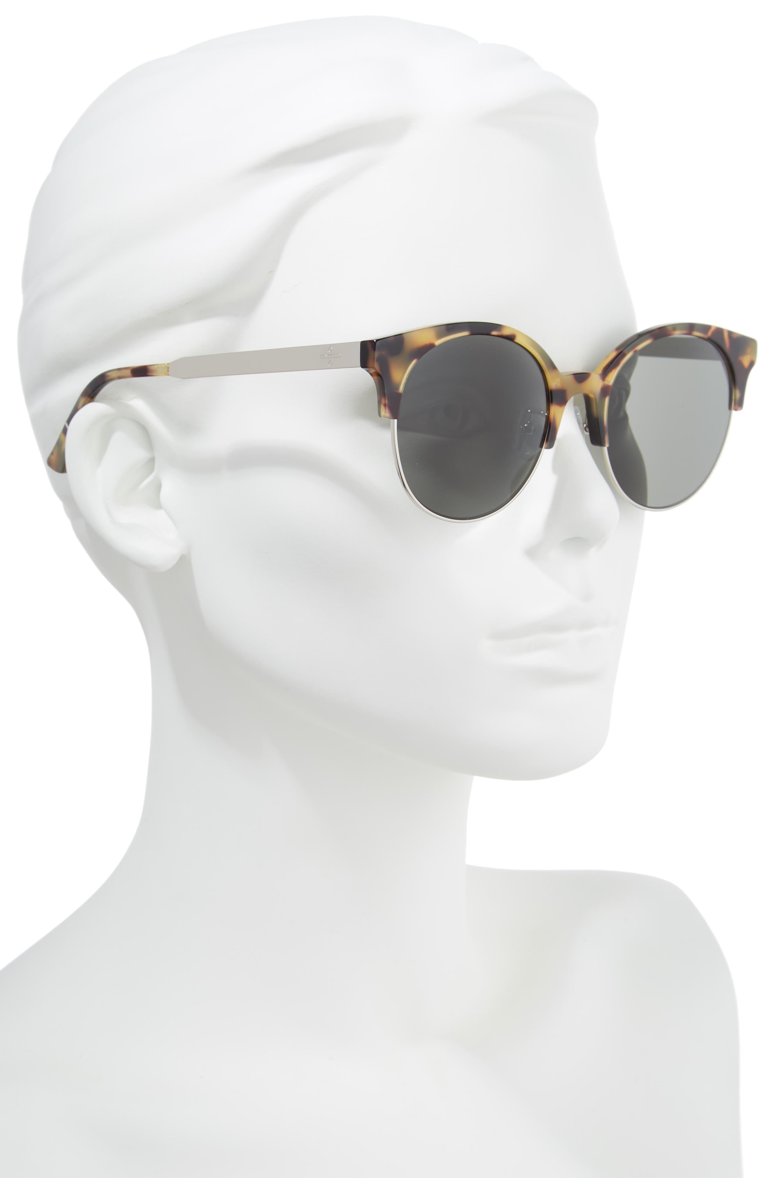 BLANC & ECLARE Venice Round Sunglasses,                             Alternate thumbnail 2, color,                             Tortoise/ Grey
