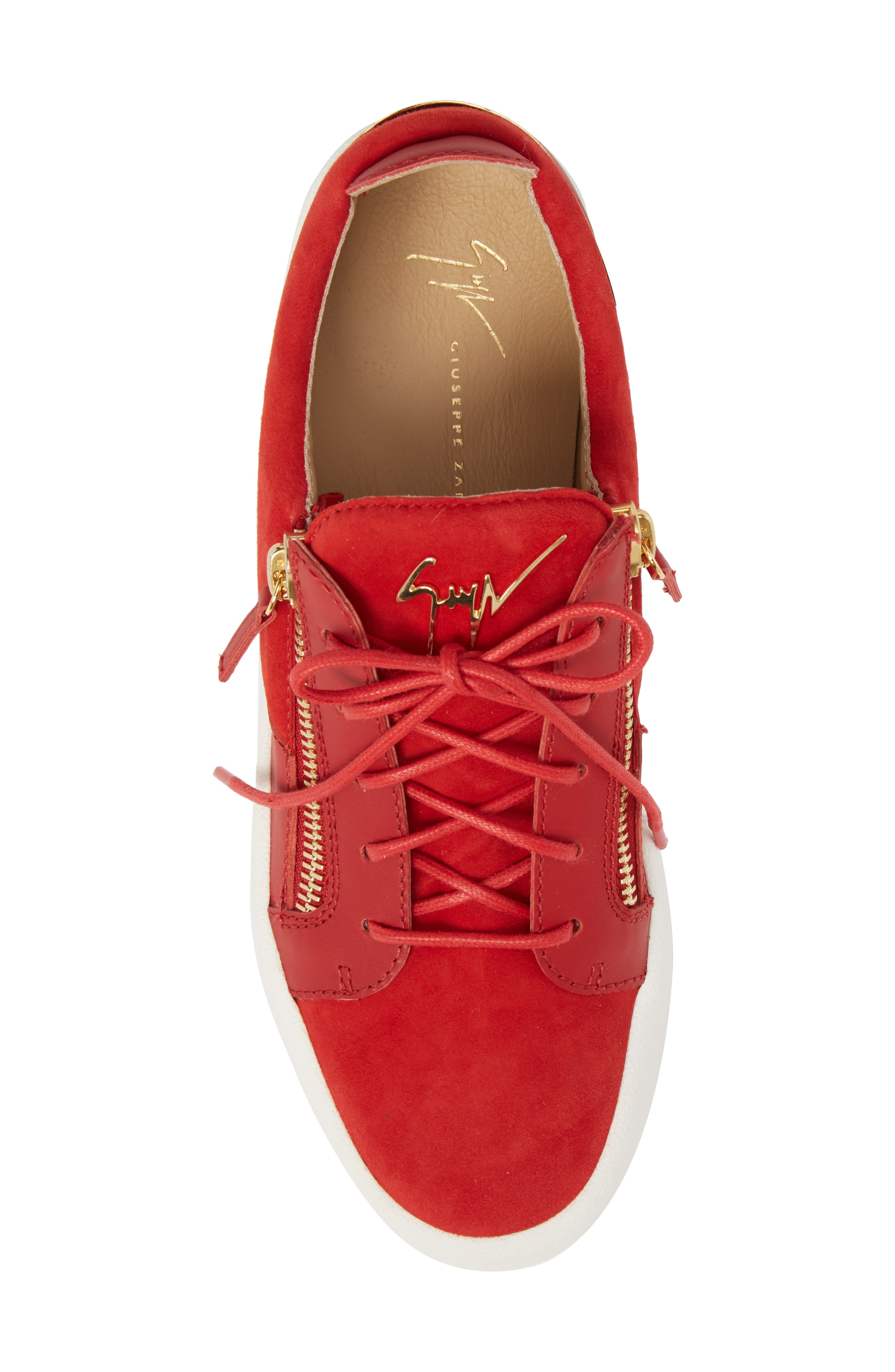 Zip Low Top Sneaker,                             Alternate thumbnail 5, color,                             Fiamma