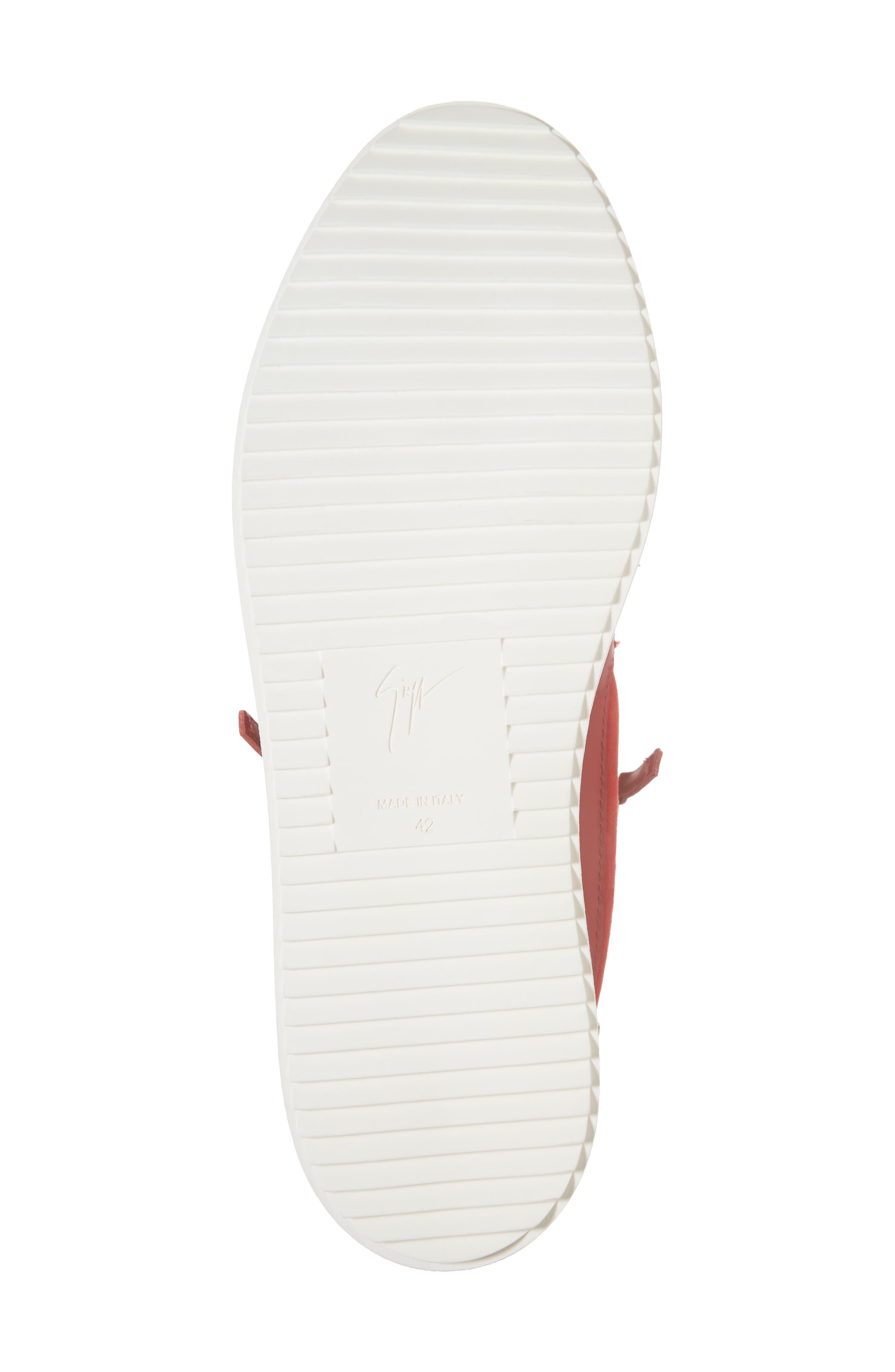 Zip Low Top Sneaker,                             Alternate thumbnail 6, color,                             Fiamma