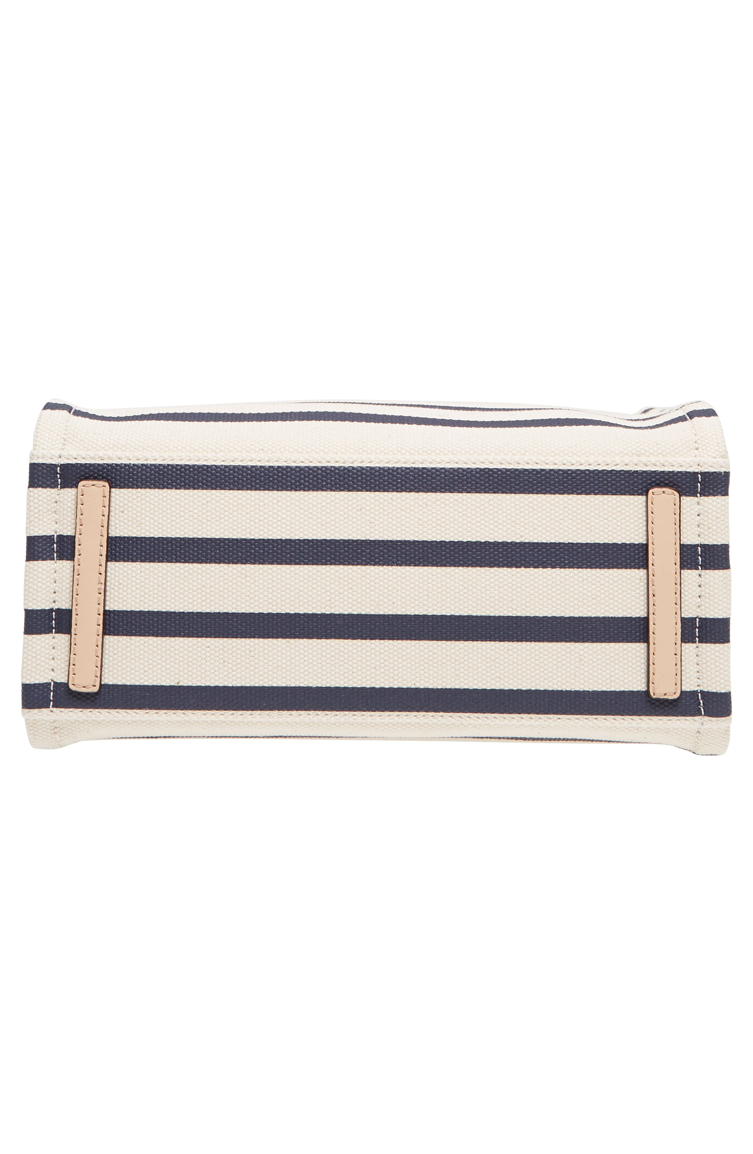 washington square - sam canvas handbag,                             Alternate thumbnail 6, color,                             Rich Navy Stripe