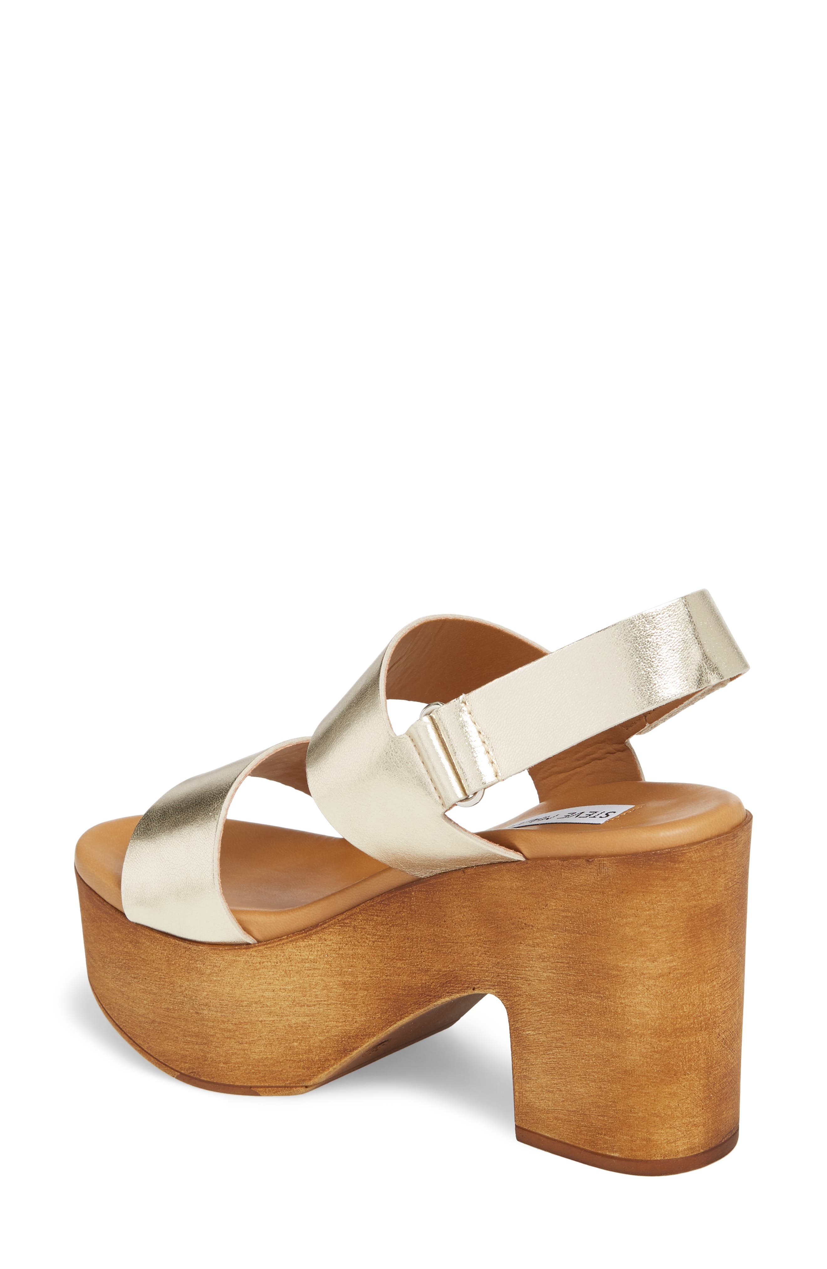 Marena Slingback Platform Sandal,                             Alternate thumbnail 2, color,                             Champagne