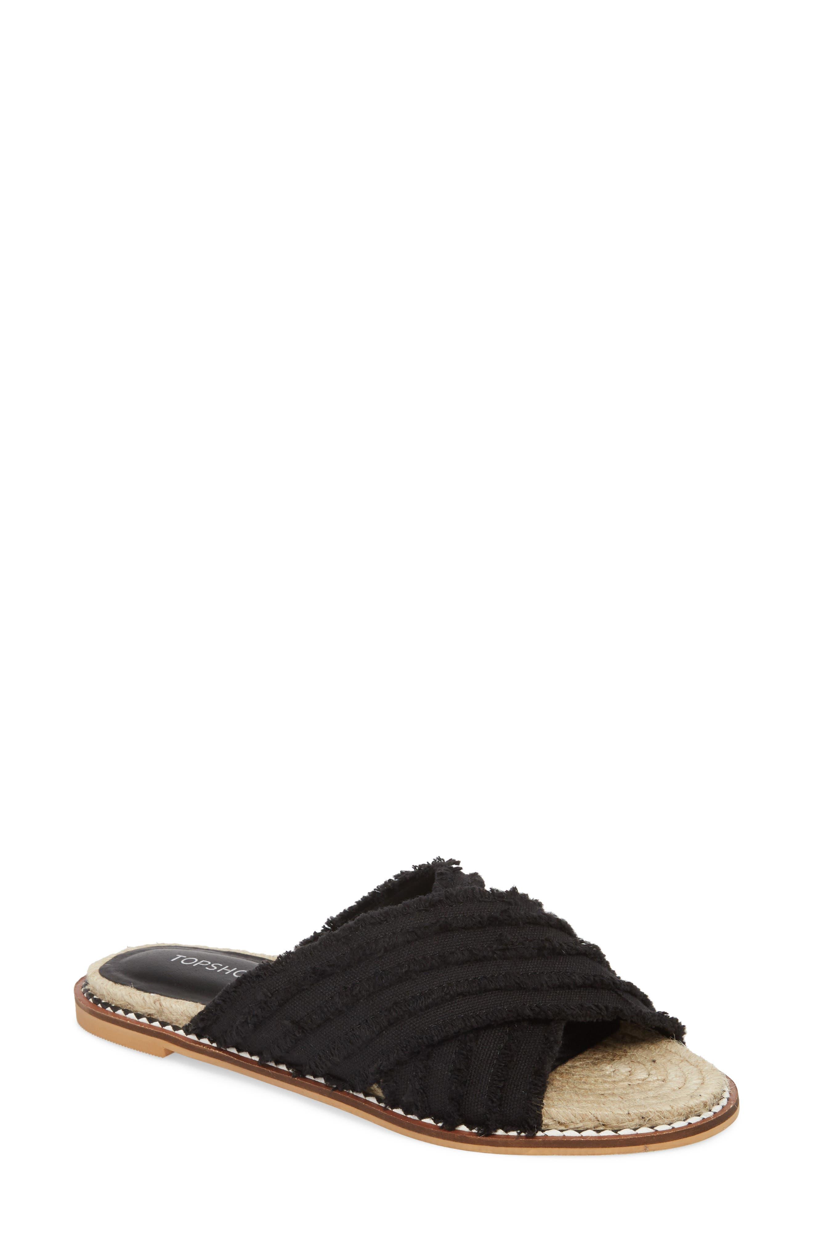 Topshop Hibiscus Slide Sandal (Women)
