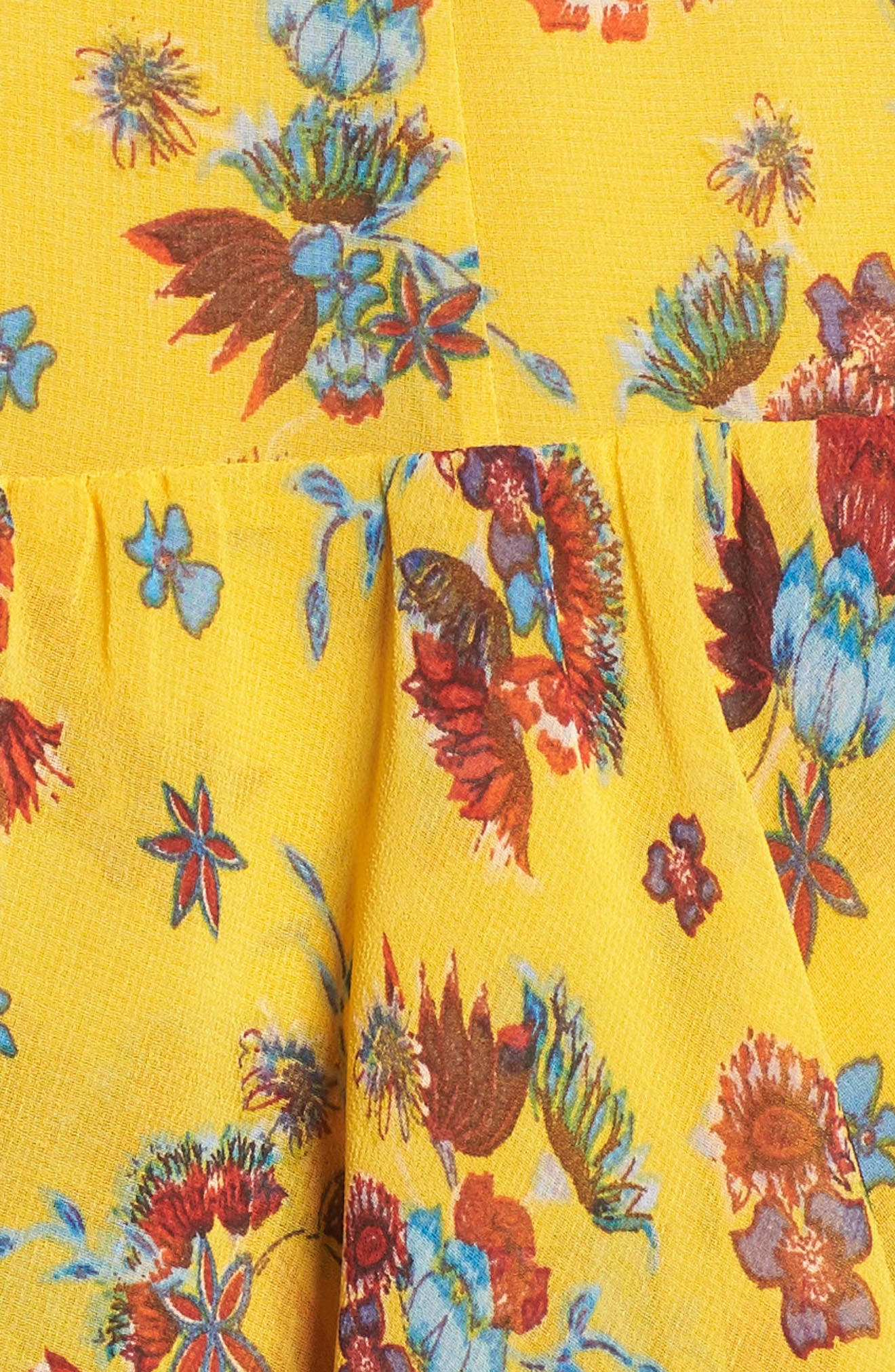Marla Dress,                             Alternate thumbnail 6, color,                             Yellow Multi