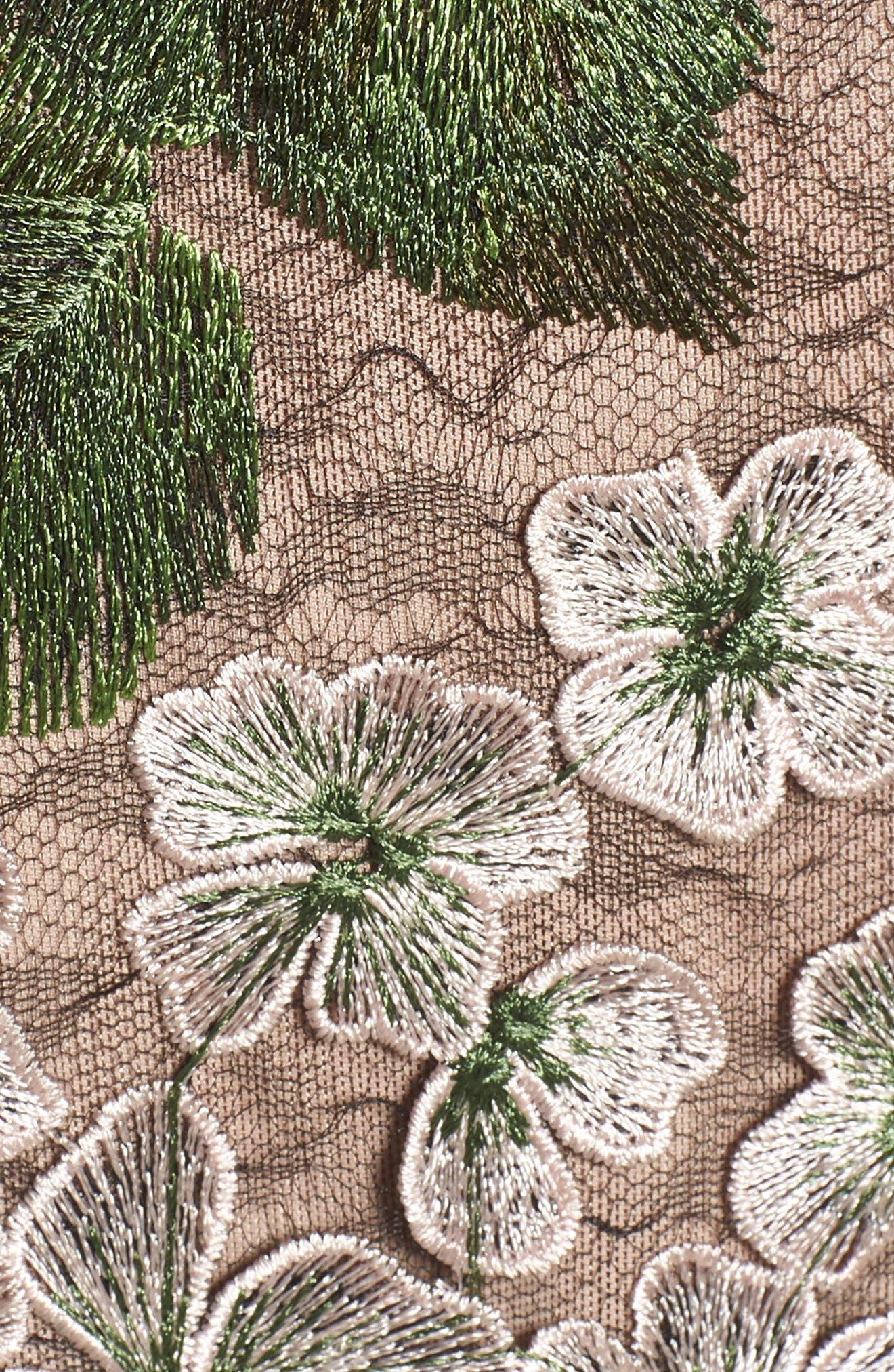 Cherry Hydrangea Lace Dress,                             Alternate thumbnail 5, color,                             Multicolor Pink