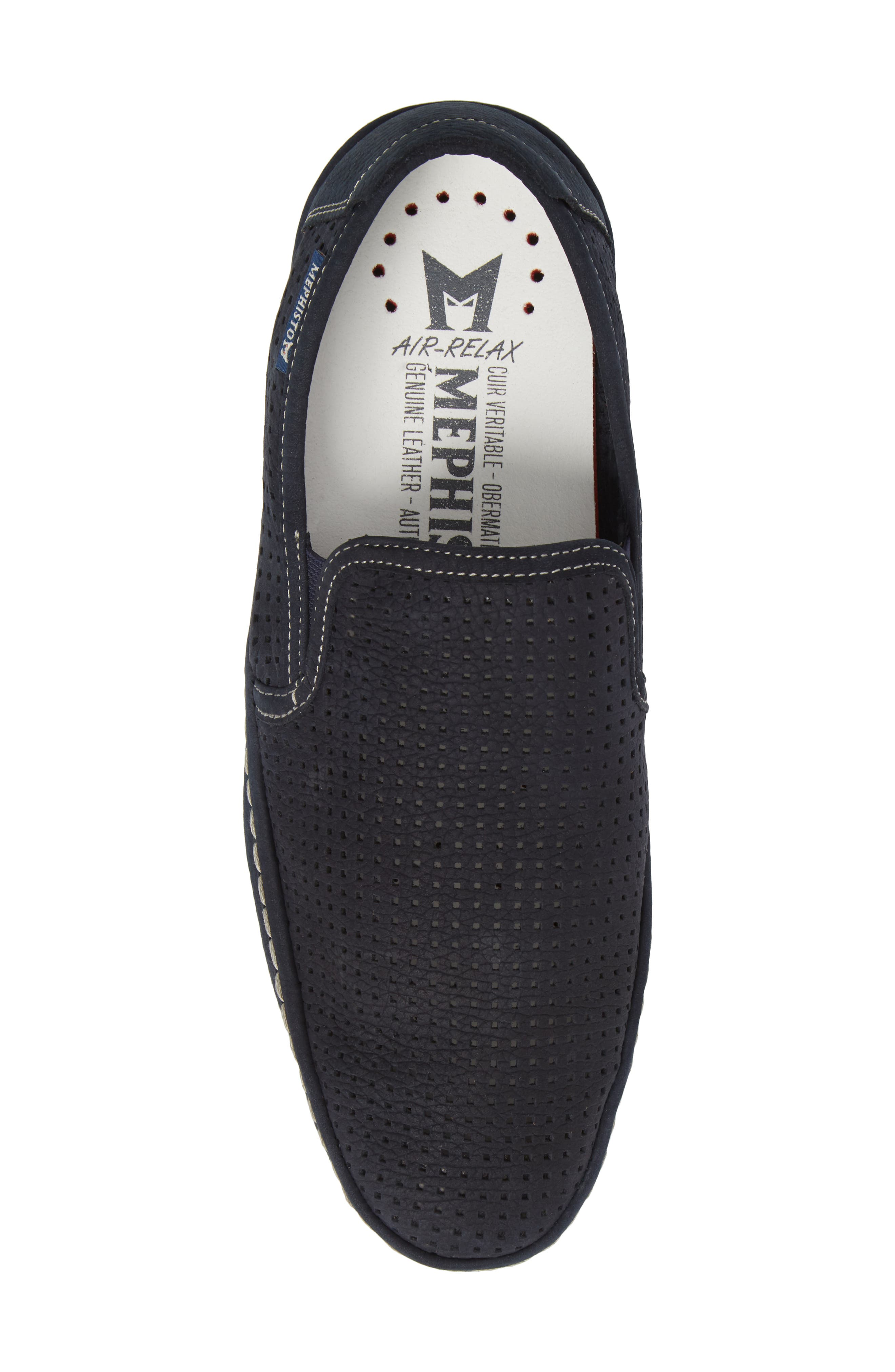 Hadrian Perforated Slip-On,                             Alternate thumbnail 5, color,                             Navy
