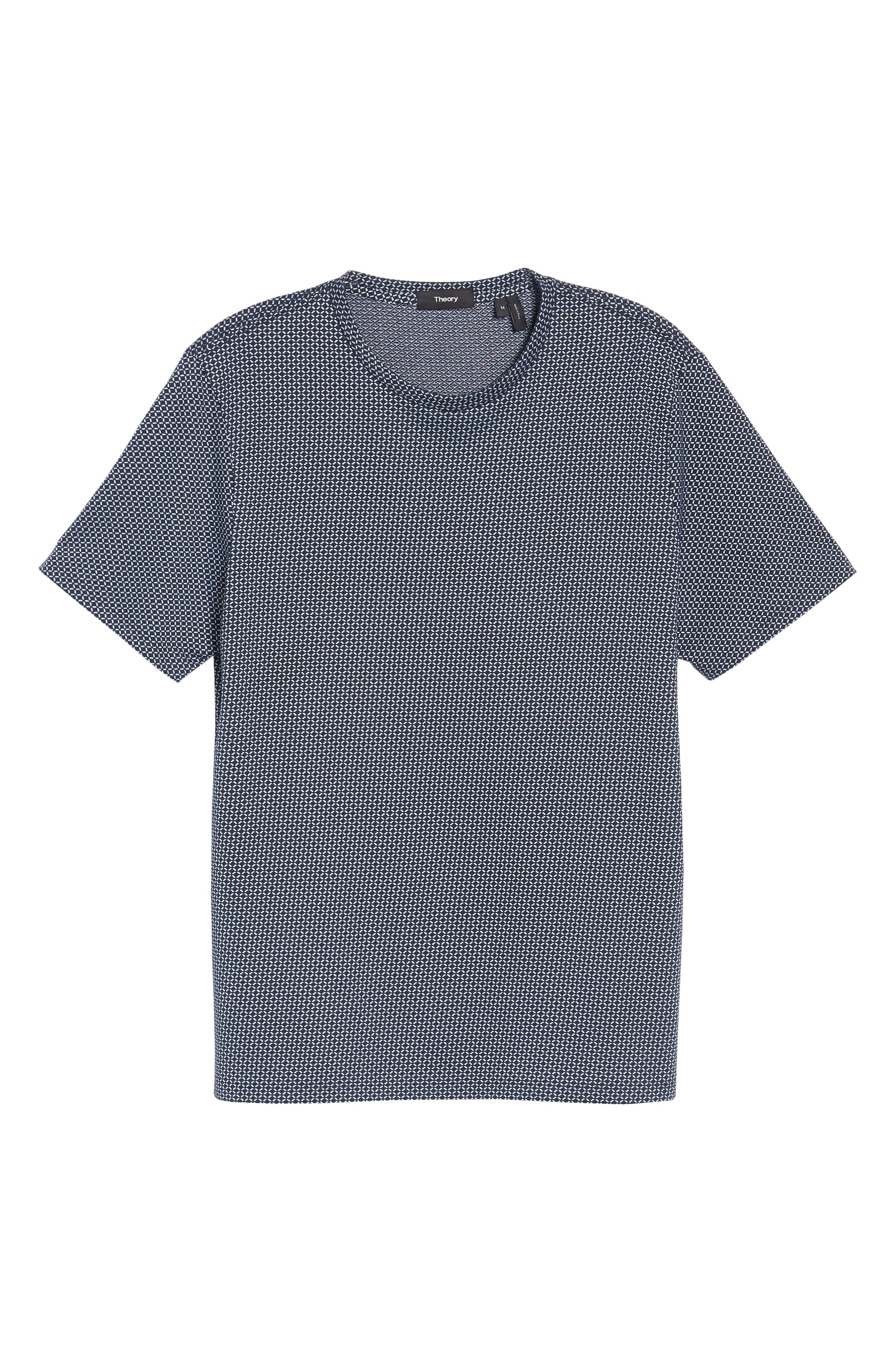 Sillar Print Crewneck T-Shirt,                             Alternate thumbnail 6, color,                             Eclipse/ White