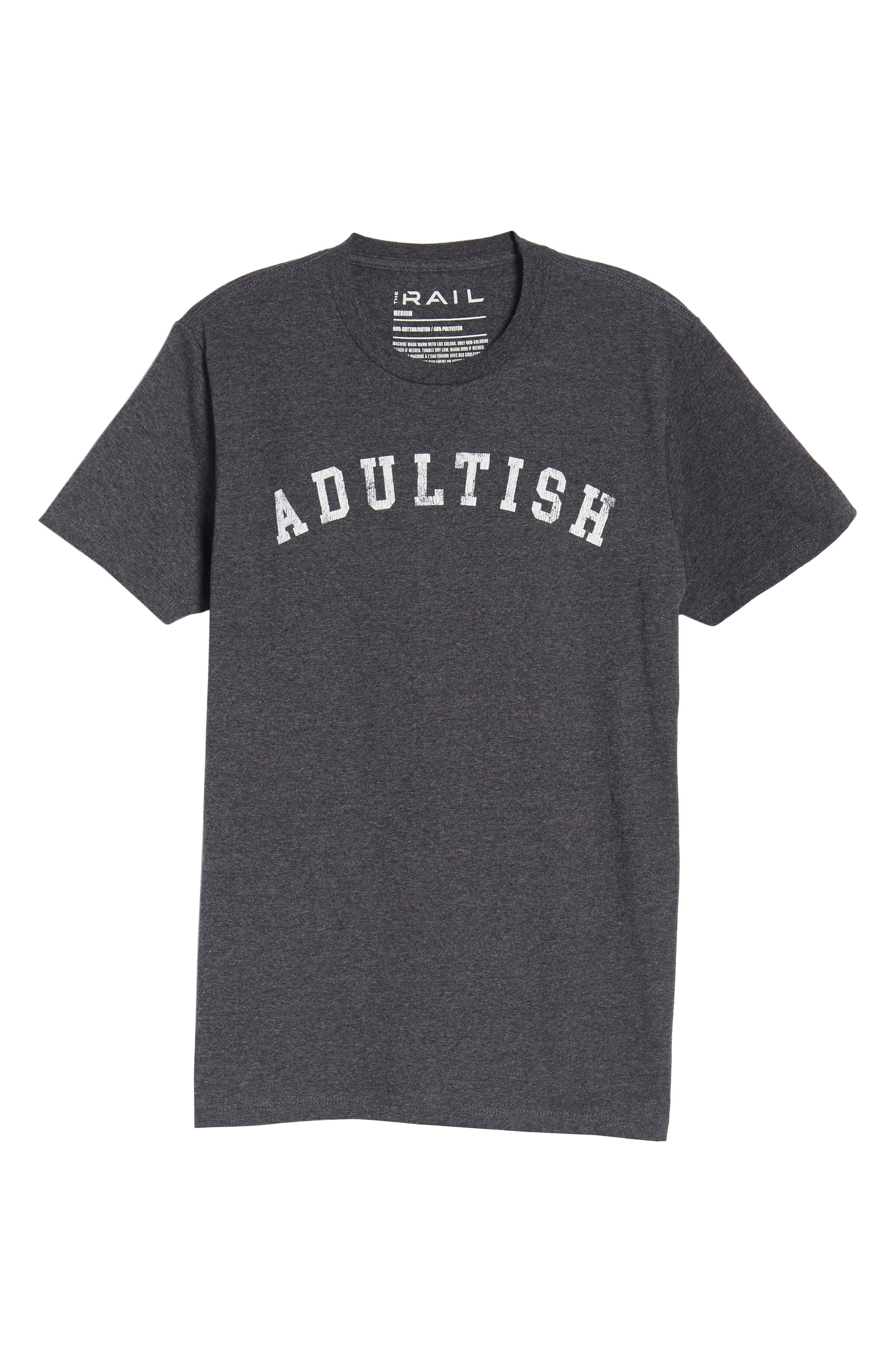 Adultish T-Shirt,                             Alternate thumbnail 6, color,                             Black Tee Adultish