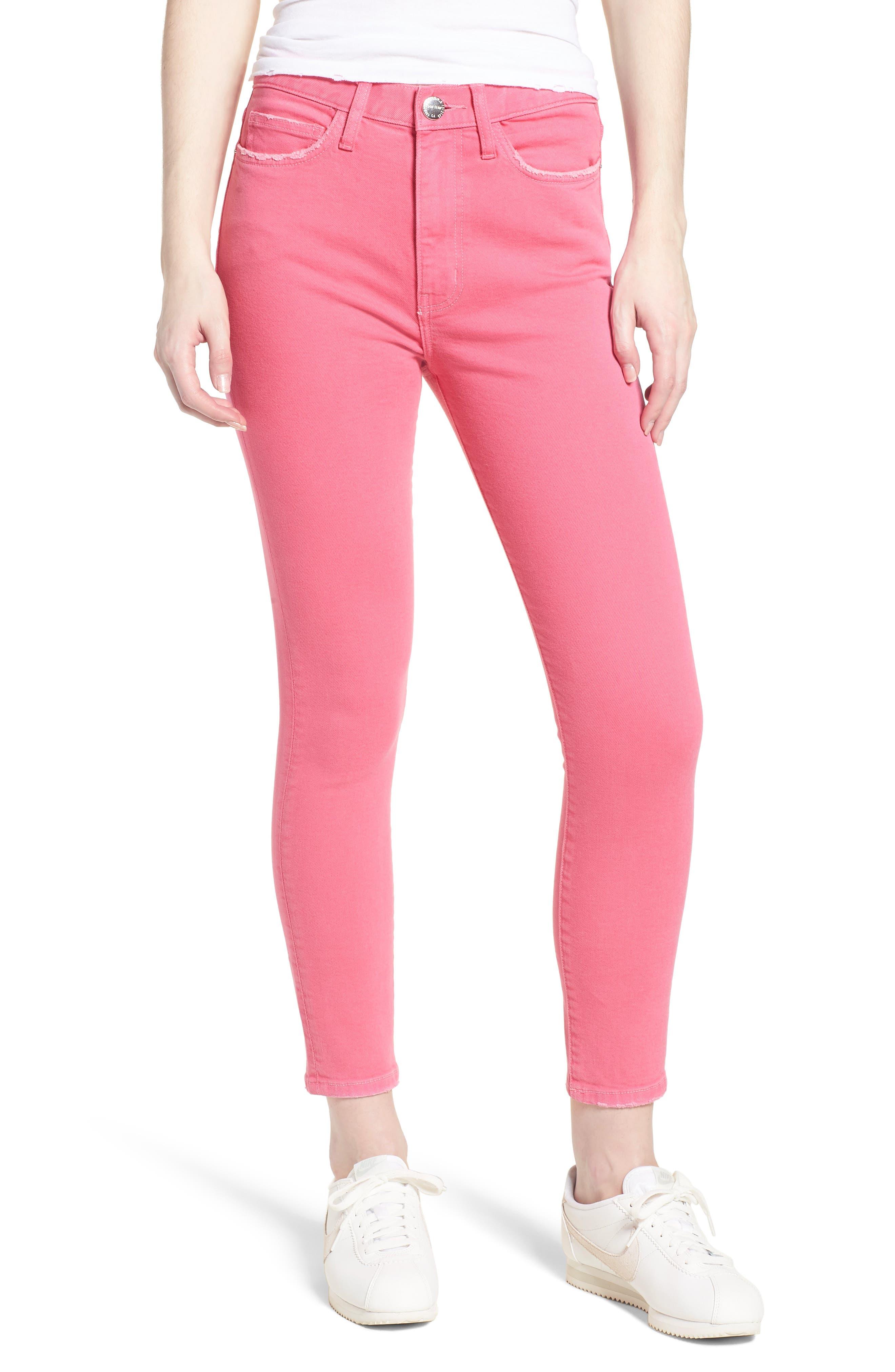 Current/Elliott The Ultra High Waist Ankle Skinny Jeans (Fandango Pink)
