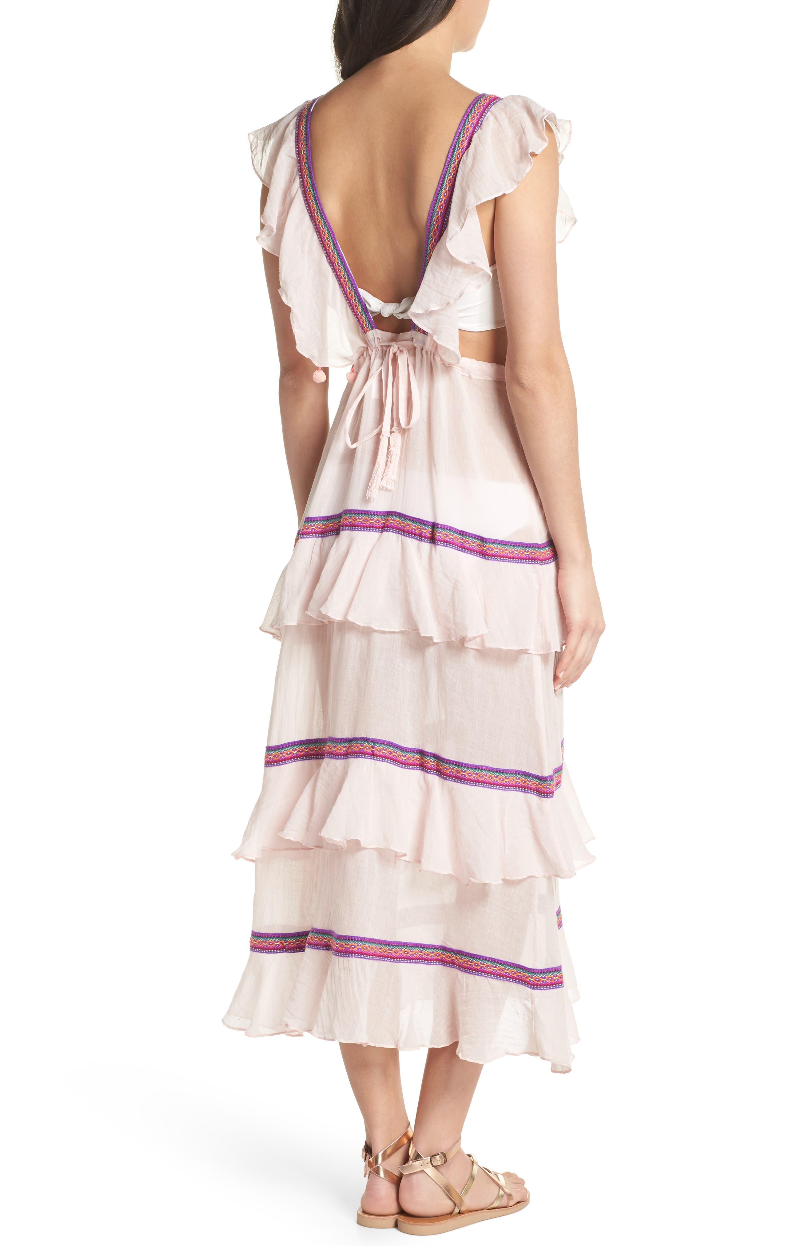 Eve Cover-Up Dress,                             Alternate thumbnail 2, color,                             Pale Pink