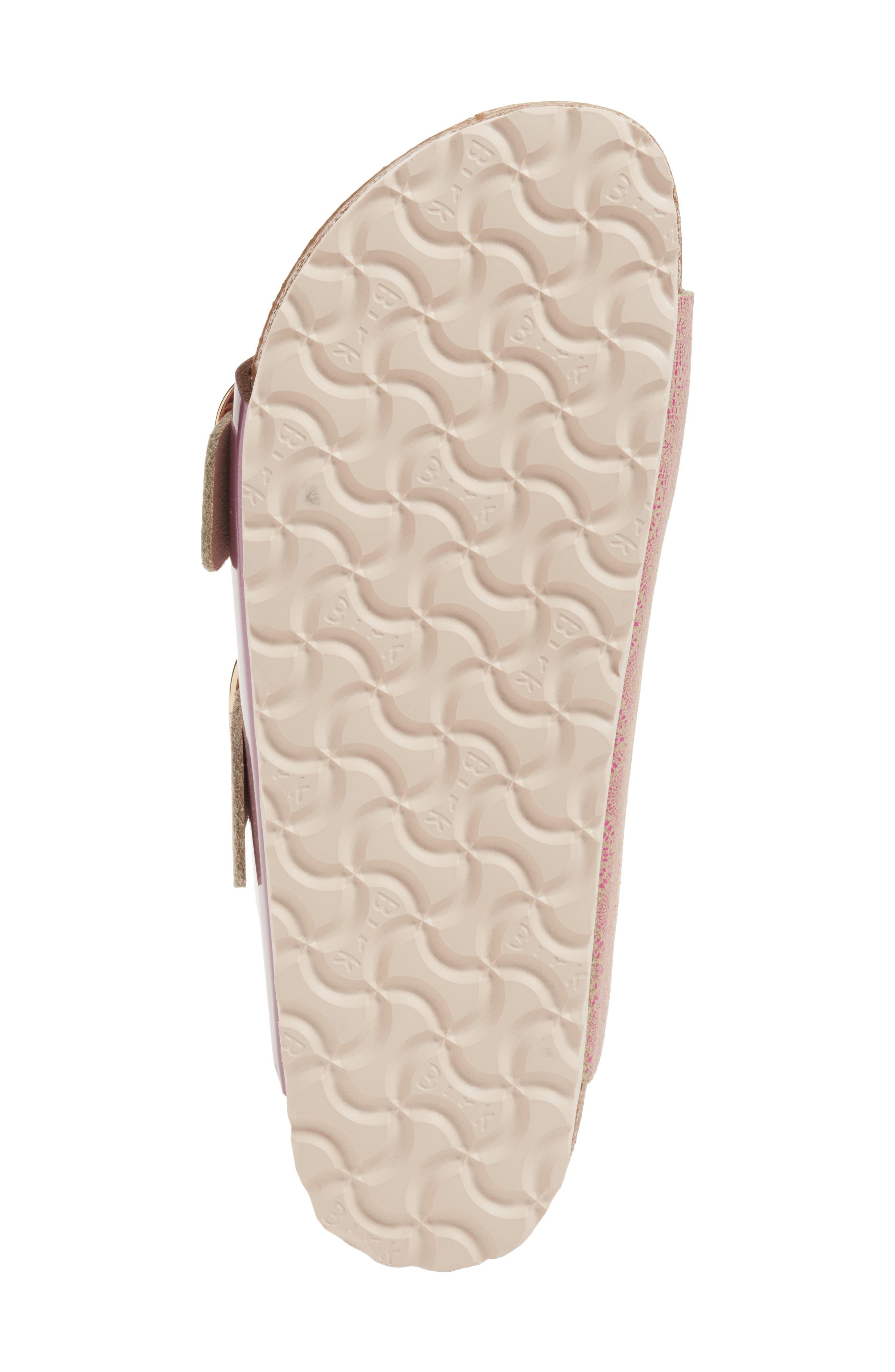 Arizona Big Buckle Slide Sandal,                             Alternate thumbnail 6, color,                             Ceramic Rose Leather