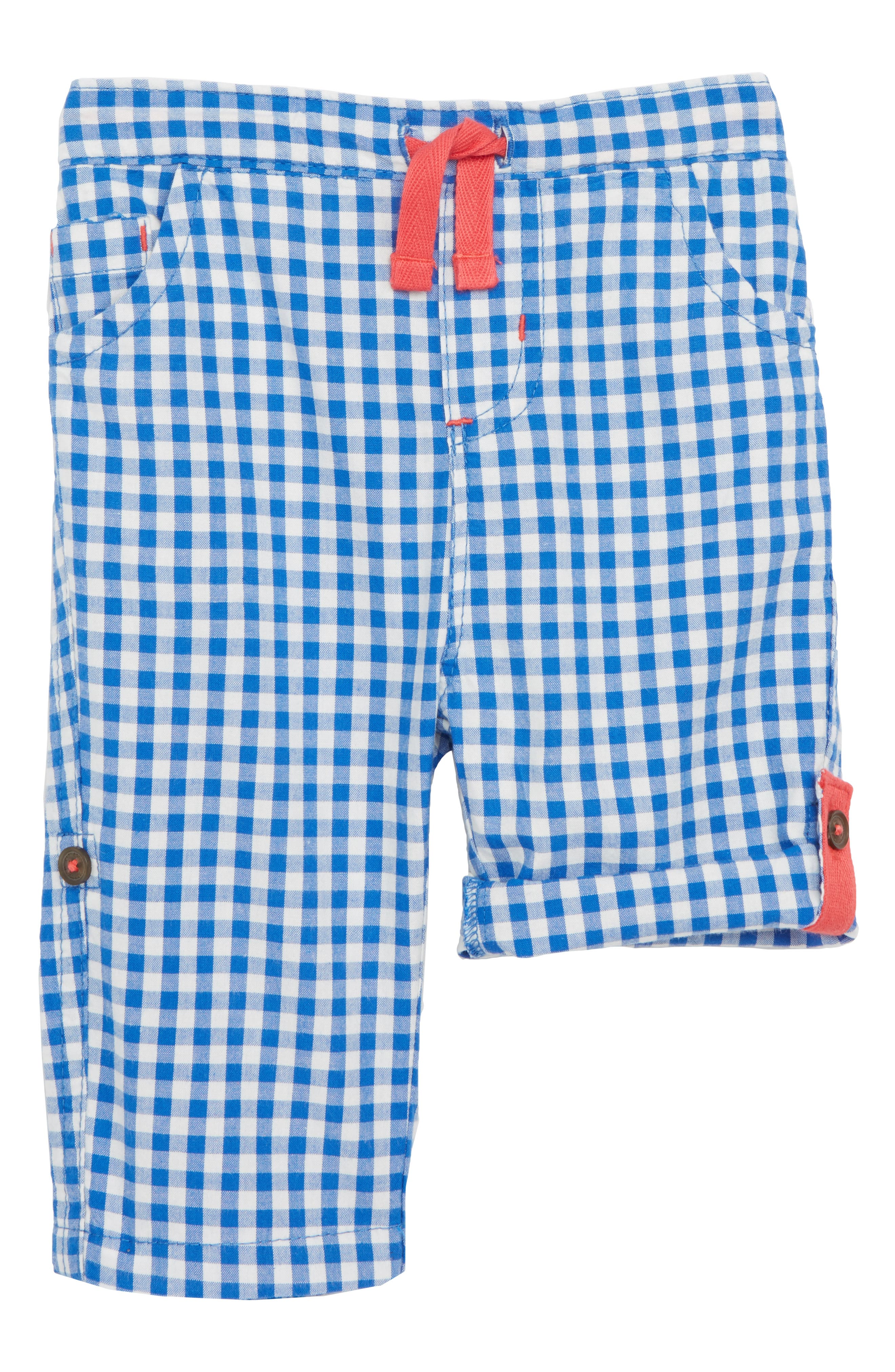 Roll-Up Trouser,                         Main,                         color, Skipper Blue Gingham