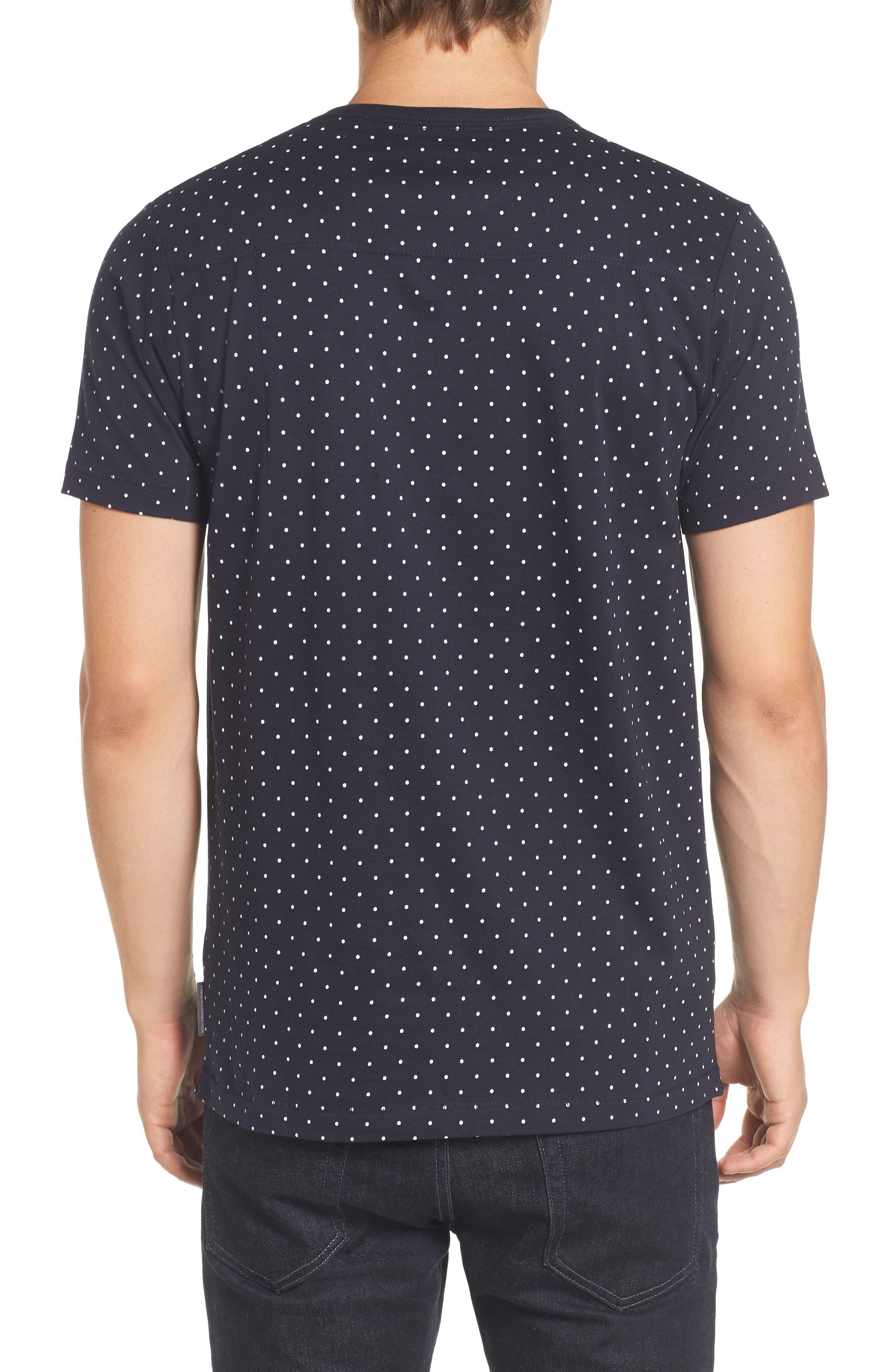 Spot Crewneck T-Shirt,                             Alternate thumbnail 2, color,                             Marine Blue White
