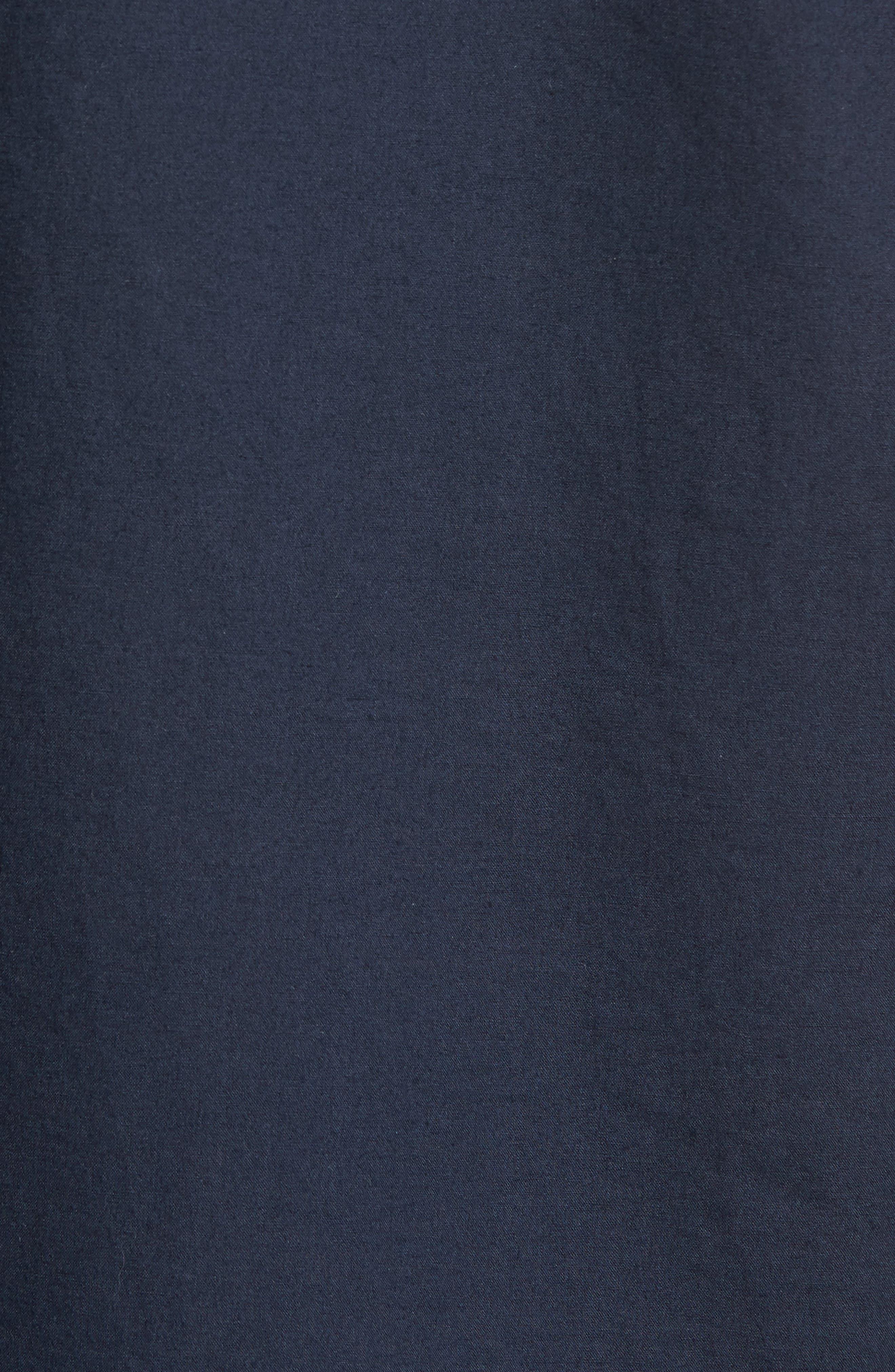 Slim Fit Short Sleeve Sport Shirt,                             Alternate thumbnail 5, color,                             Marine Blue
