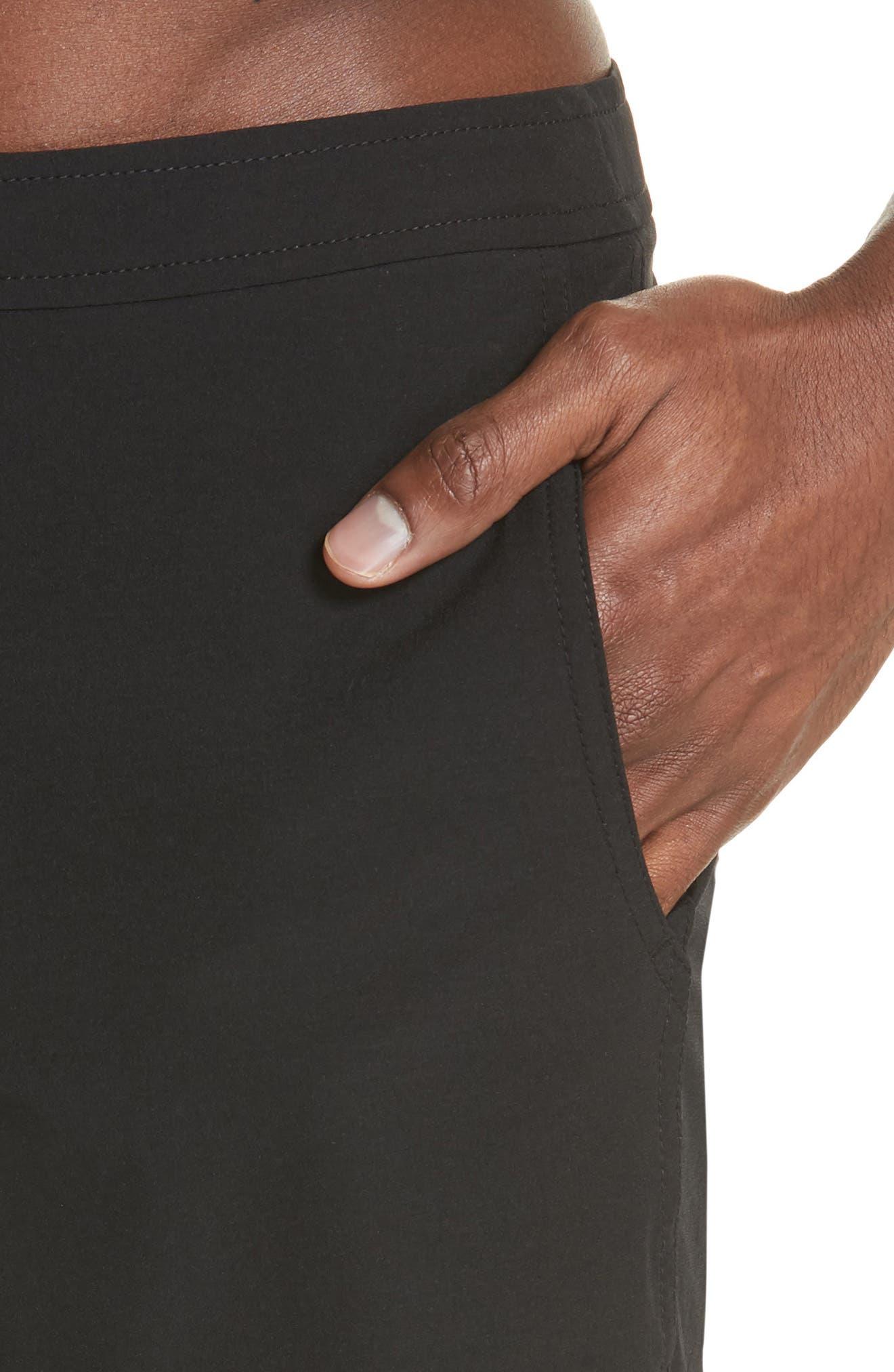 Calder Swim Trunks,                             Alternate thumbnail 4, color,                             Black