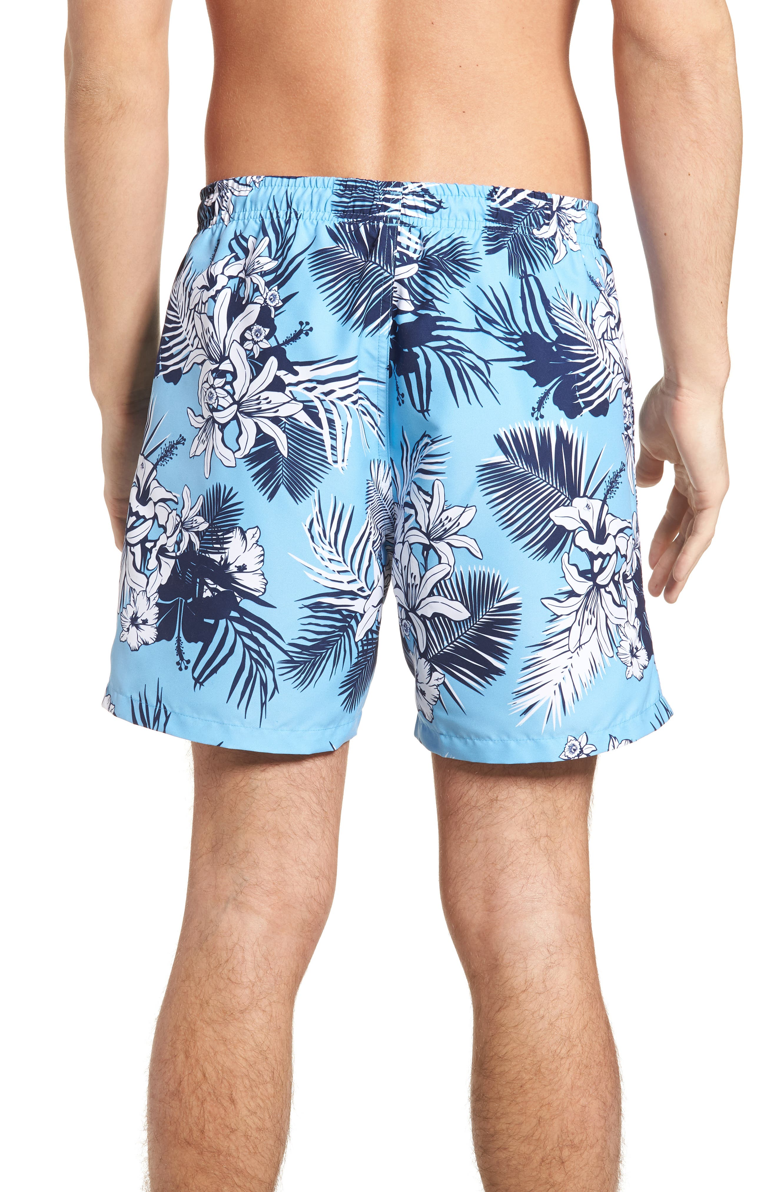 Alternate Image 2  - BOSS Piranha Floral Swim Trunks