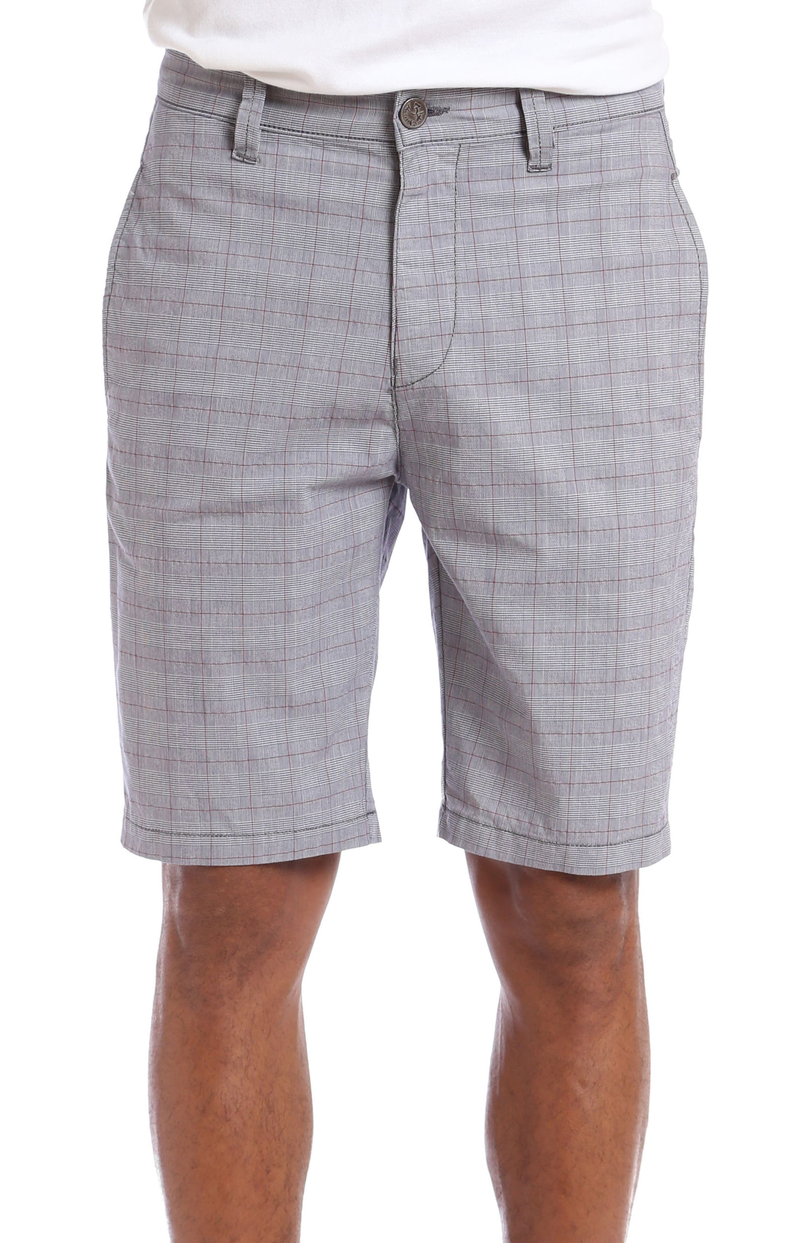 Nevada Twill Shorts,                             Main thumbnail 1, color,                             Grey Plaid