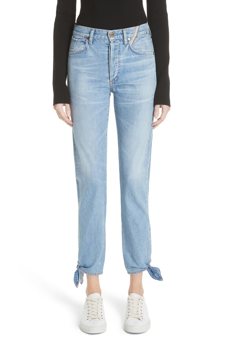 Hunter Ankle Tie Crop Jeans