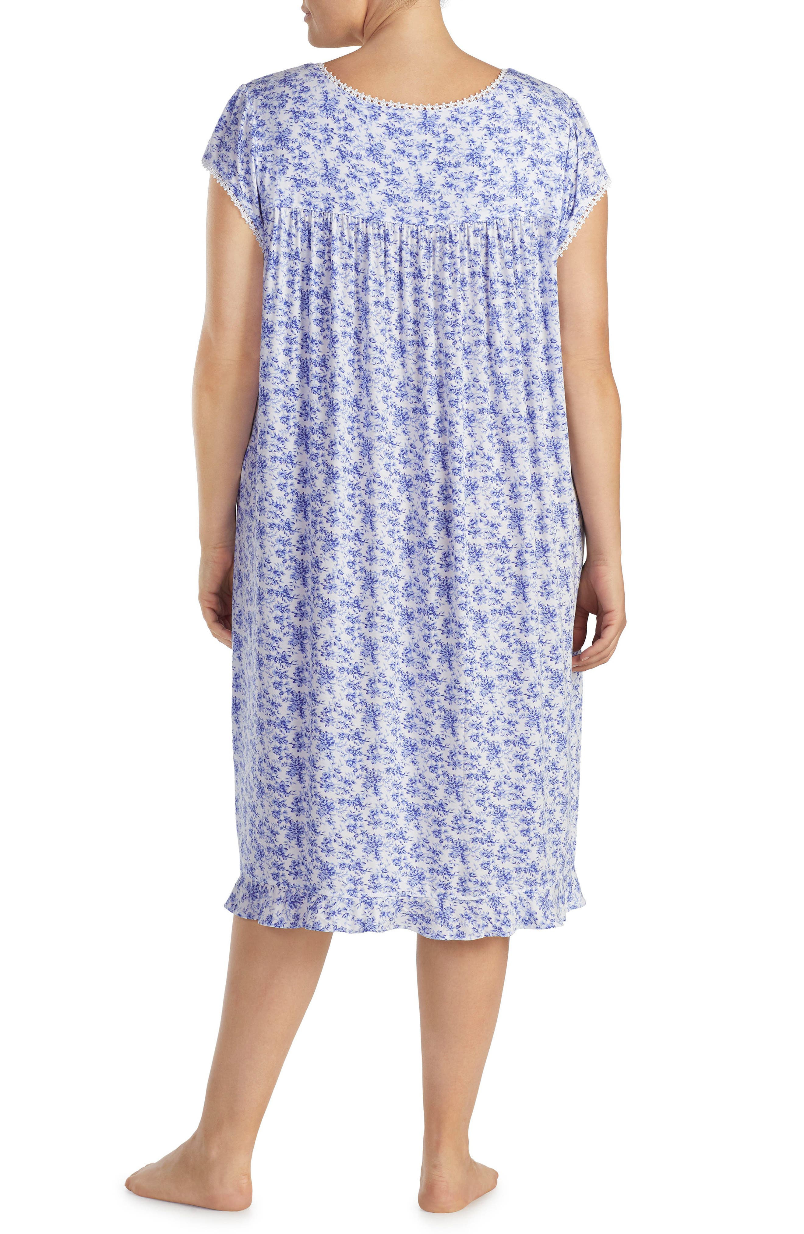 Print Nightgown,                             Alternate thumbnail 2, color,                             Lilac