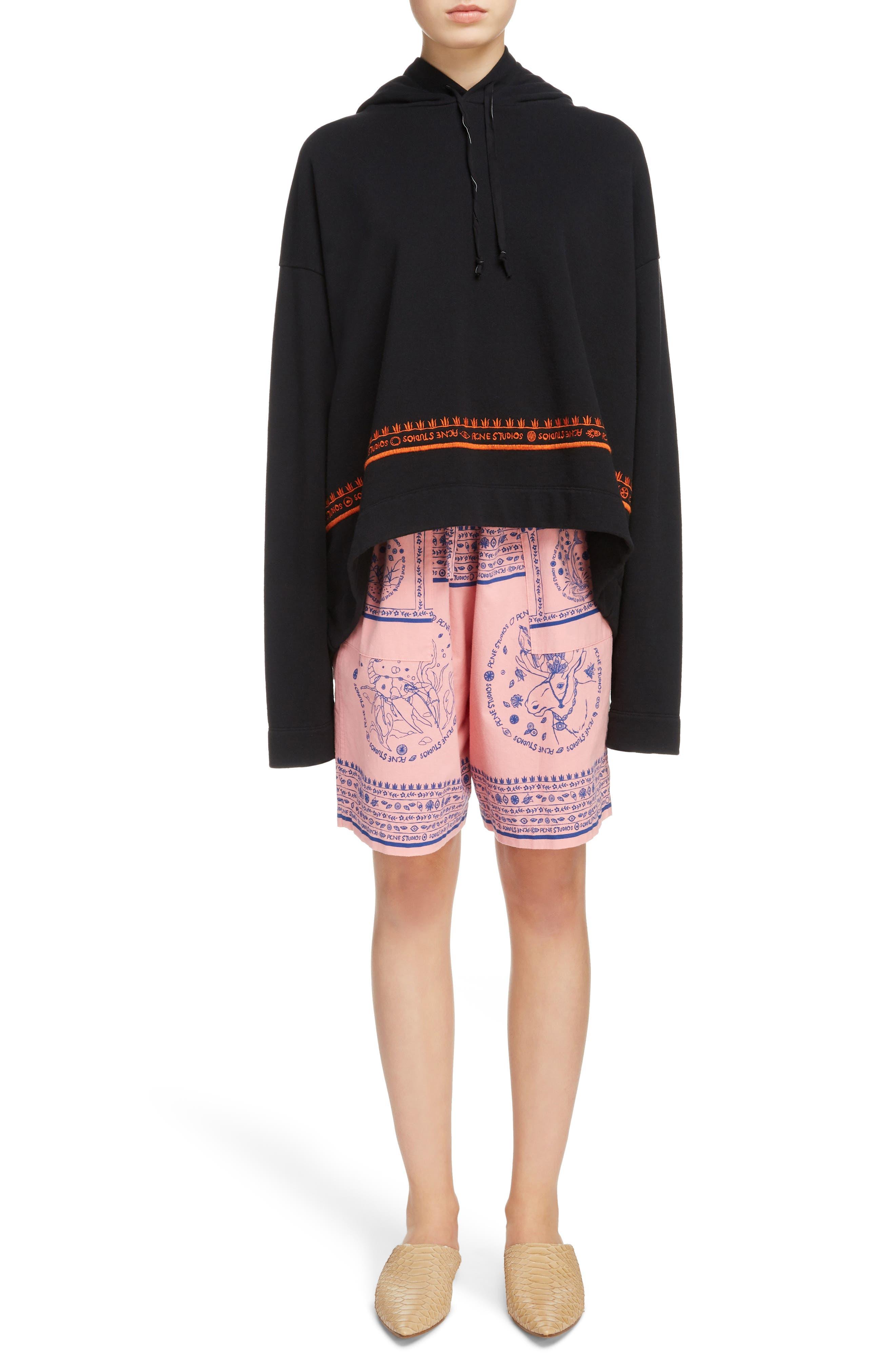 Nejlika Print Shorts,                             Alternate thumbnail 6, color,                             Pink Block Print