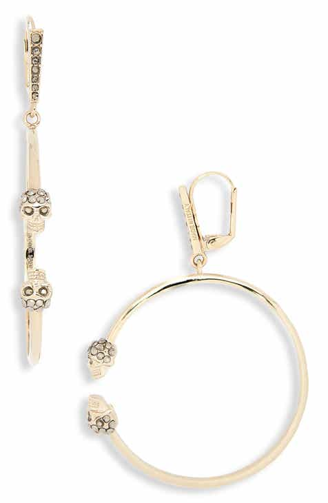 Alexander Mcqueen Creolo Skull Hoop Earrings