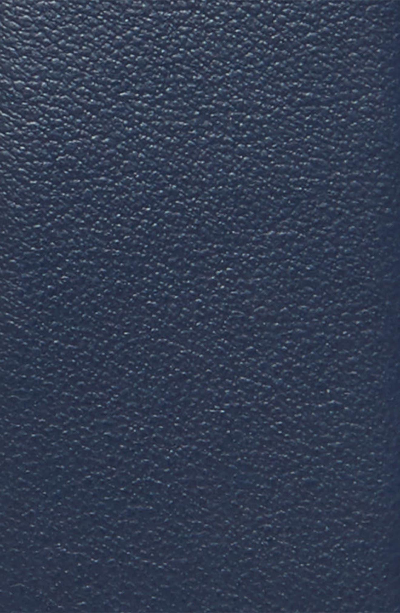 Etched Double Gancio Reversible Leather Belt,                             Alternate thumbnail 3, color,                             Blue Marine/ Black