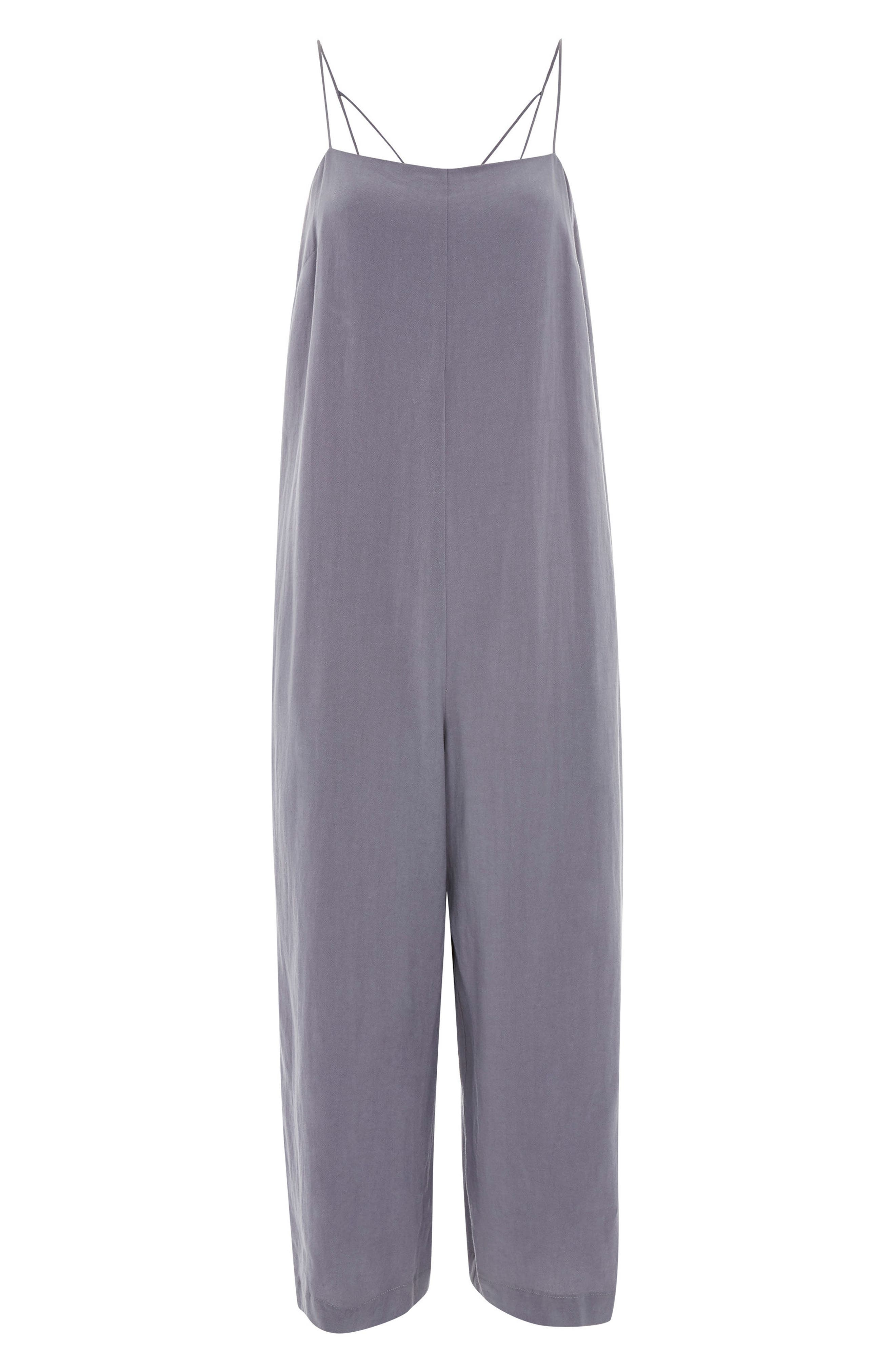 Alternate Image 4  - Topshop Molly Square Neck Slouch Jumpsuit