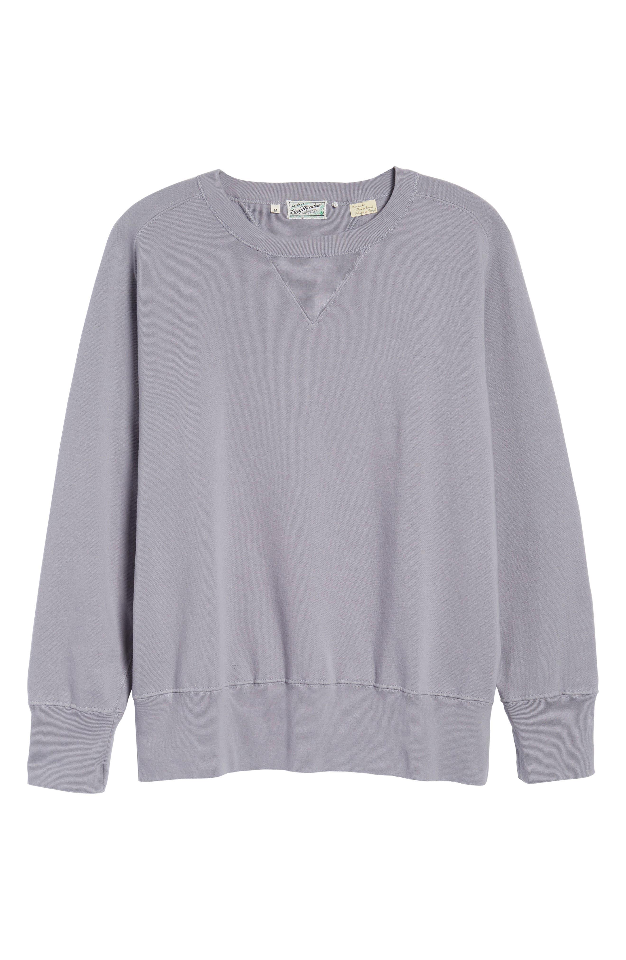 Bay Meadows Sweatshirt,                             Alternate thumbnail 6, color,                             Quiksilver