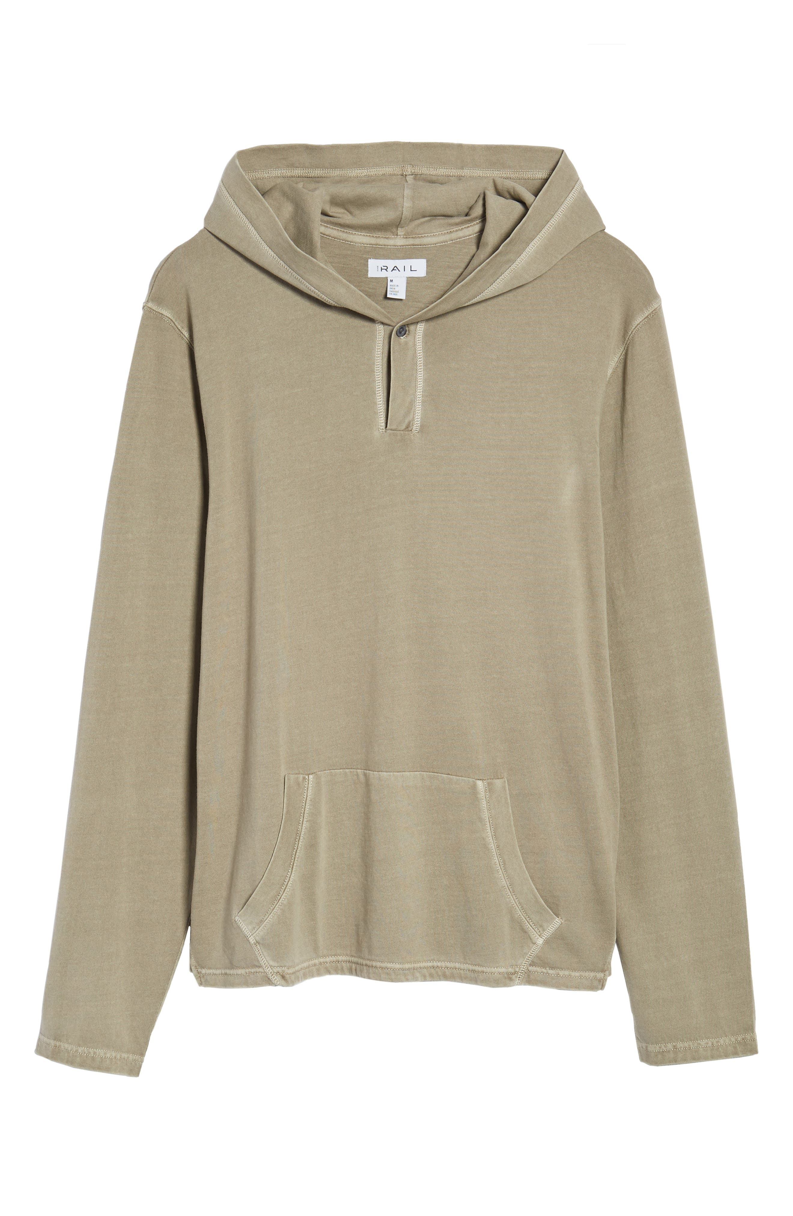 Sunfaded Jersey Hoodie,                             Alternate thumbnail 6, color,                             Tan Aluminum