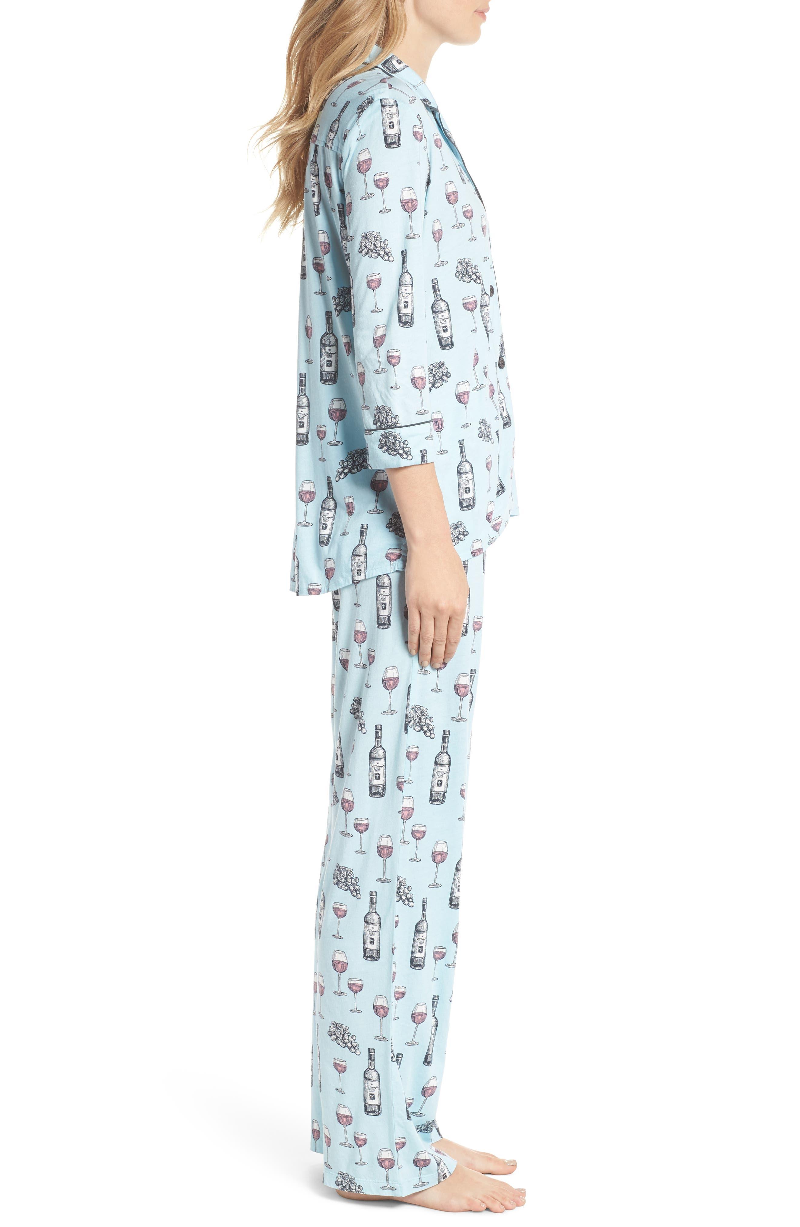 Alternate Image 3  - PJ Salvage Print Pajamas & Eye Mask