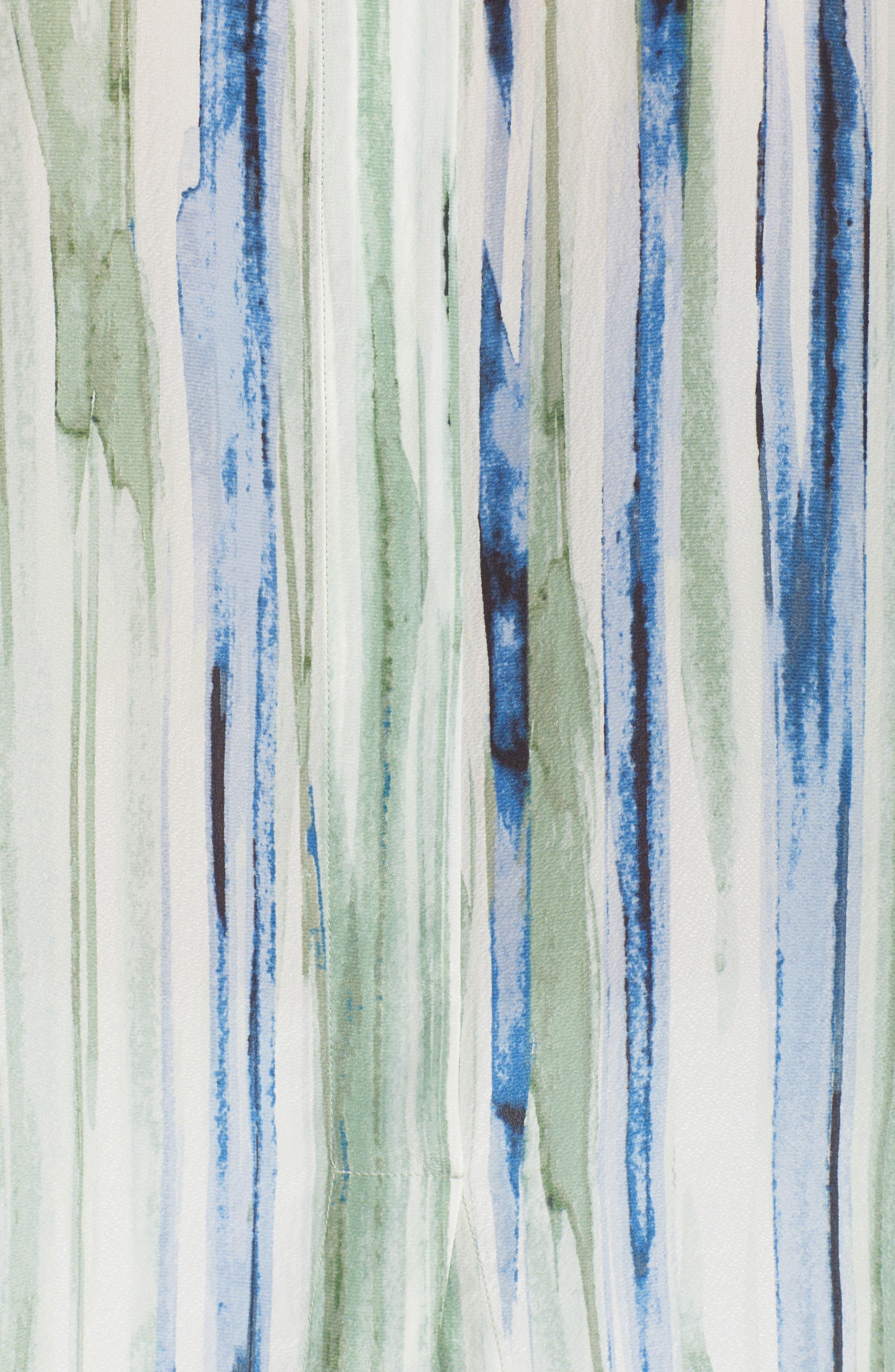 Mojito Nights Silk Blend Top,                             Alternate thumbnail 6, color,                             Multi