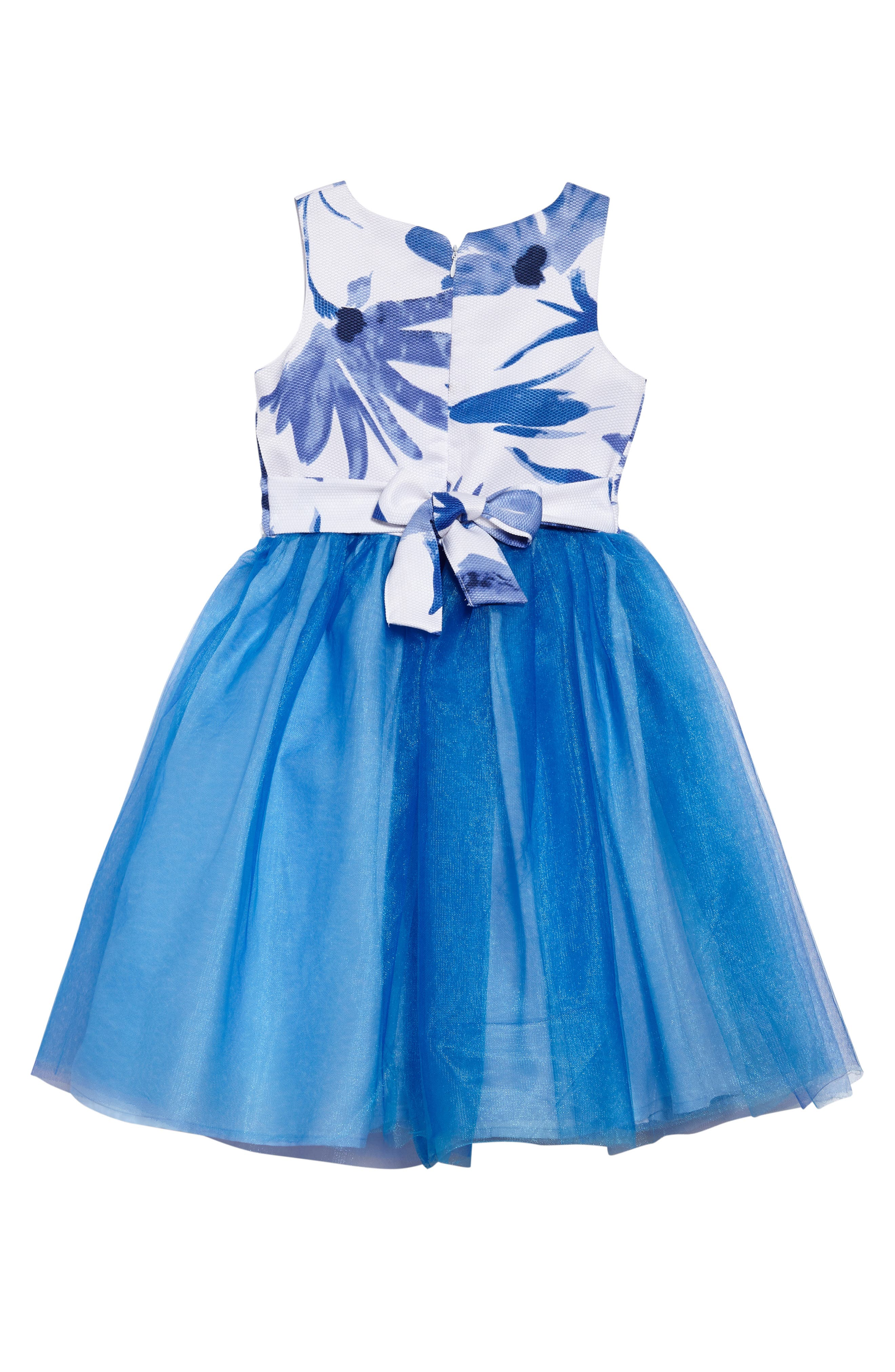 Kathy Sleeveless Dress,                             Alternate thumbnail 2, color,                             Blue/ White
