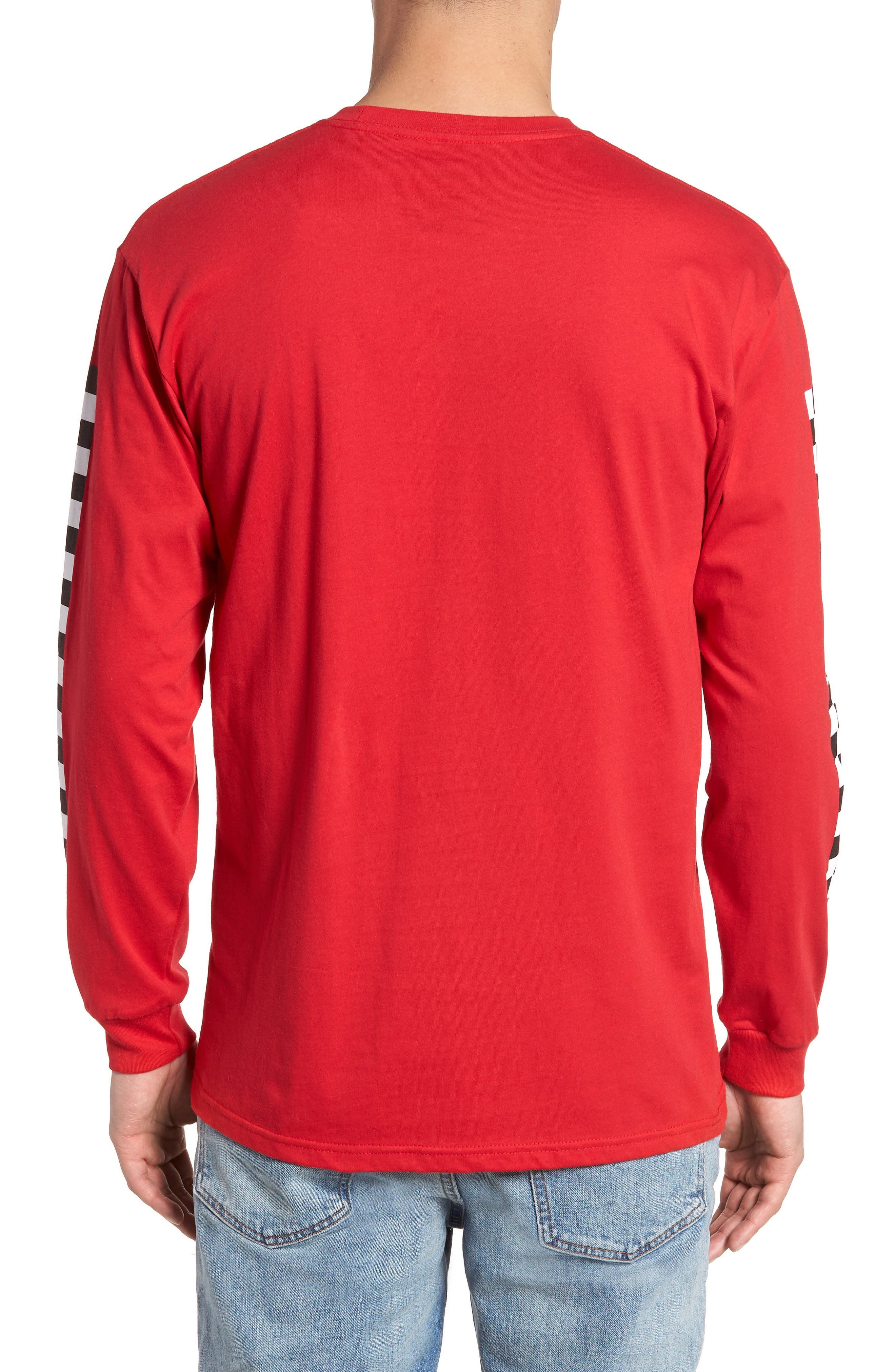 Classic Checkmate Long Sleeve T-Shirt,                             Alternate thumbnail 2, color,                             Red/ Black