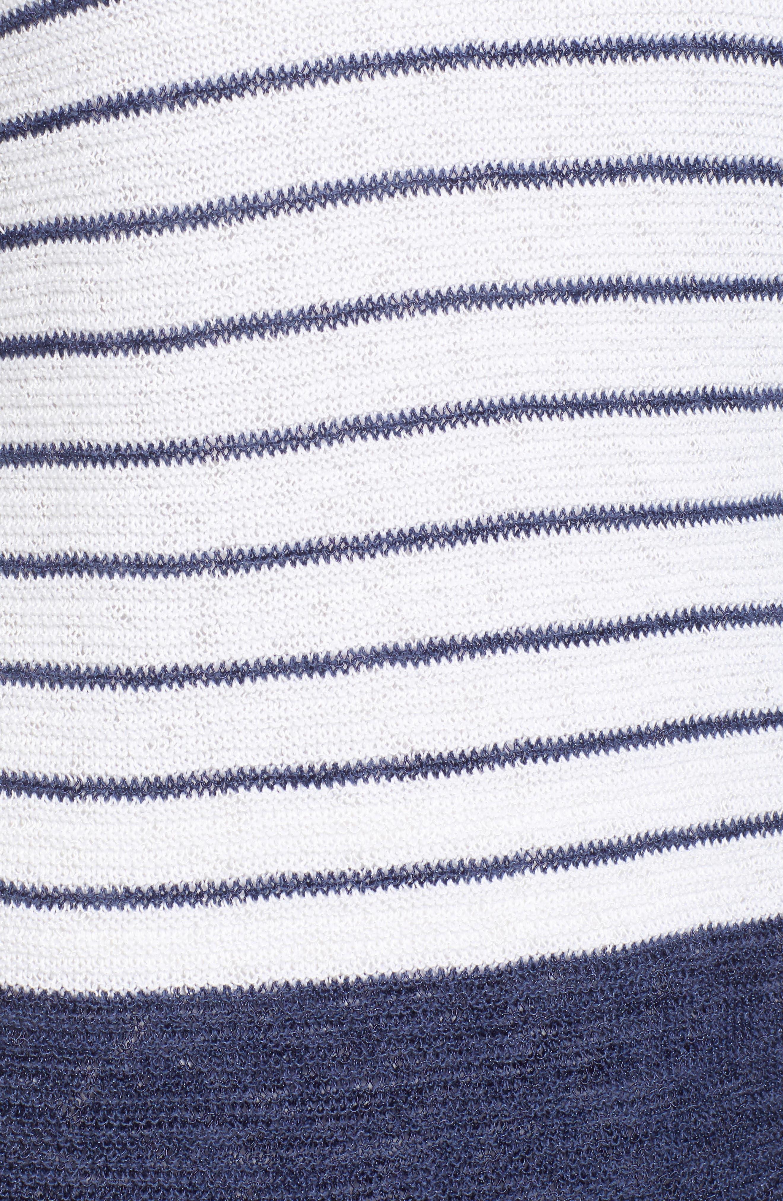 Cross Roads Knit Top,                             Alternate thumbnail 6, color,                             Rich Indigo