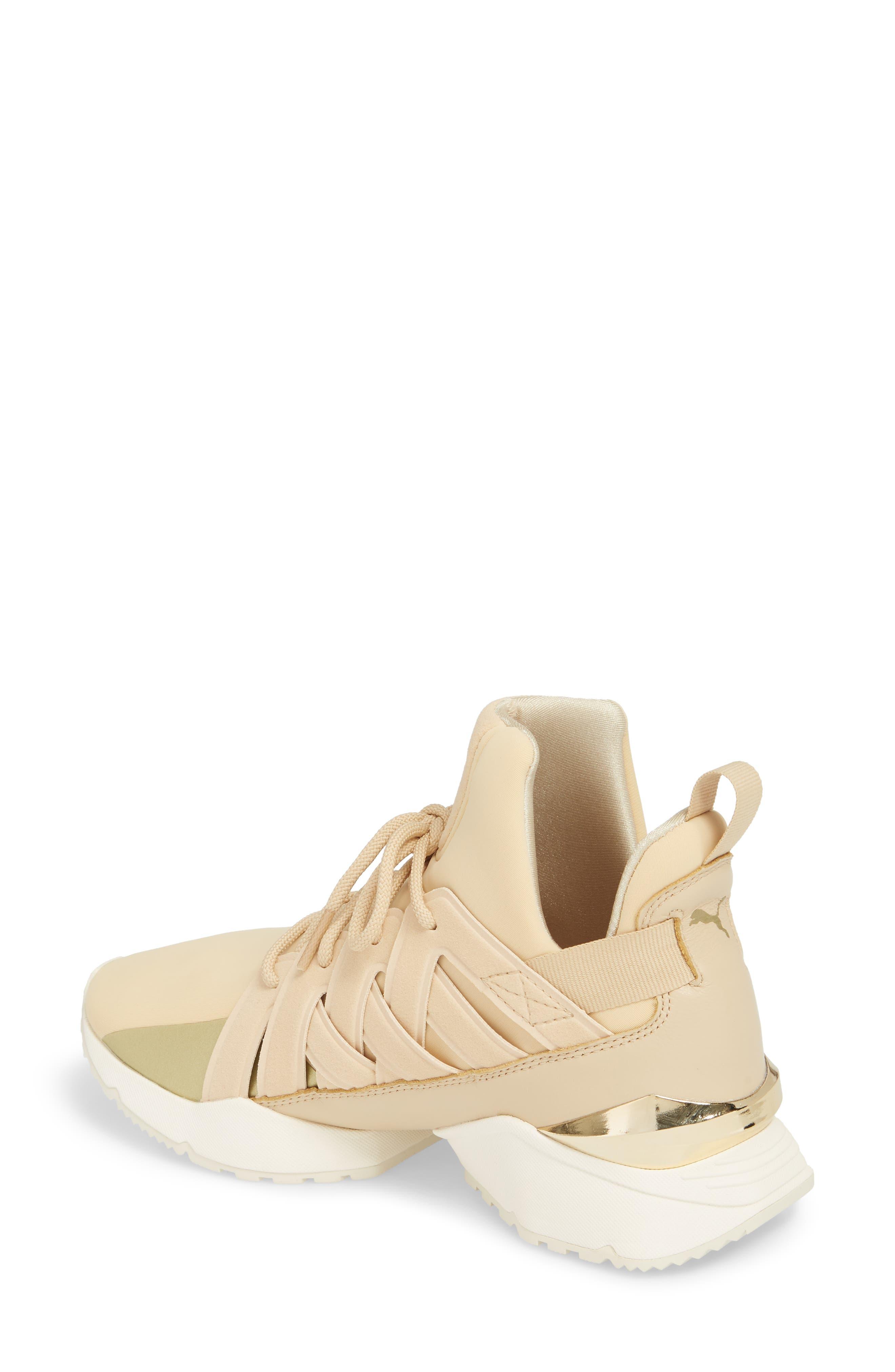 Muse Echo Sneaker,                             Alternate thumbnail 2, color,                             Pebble/ Metallic Gold