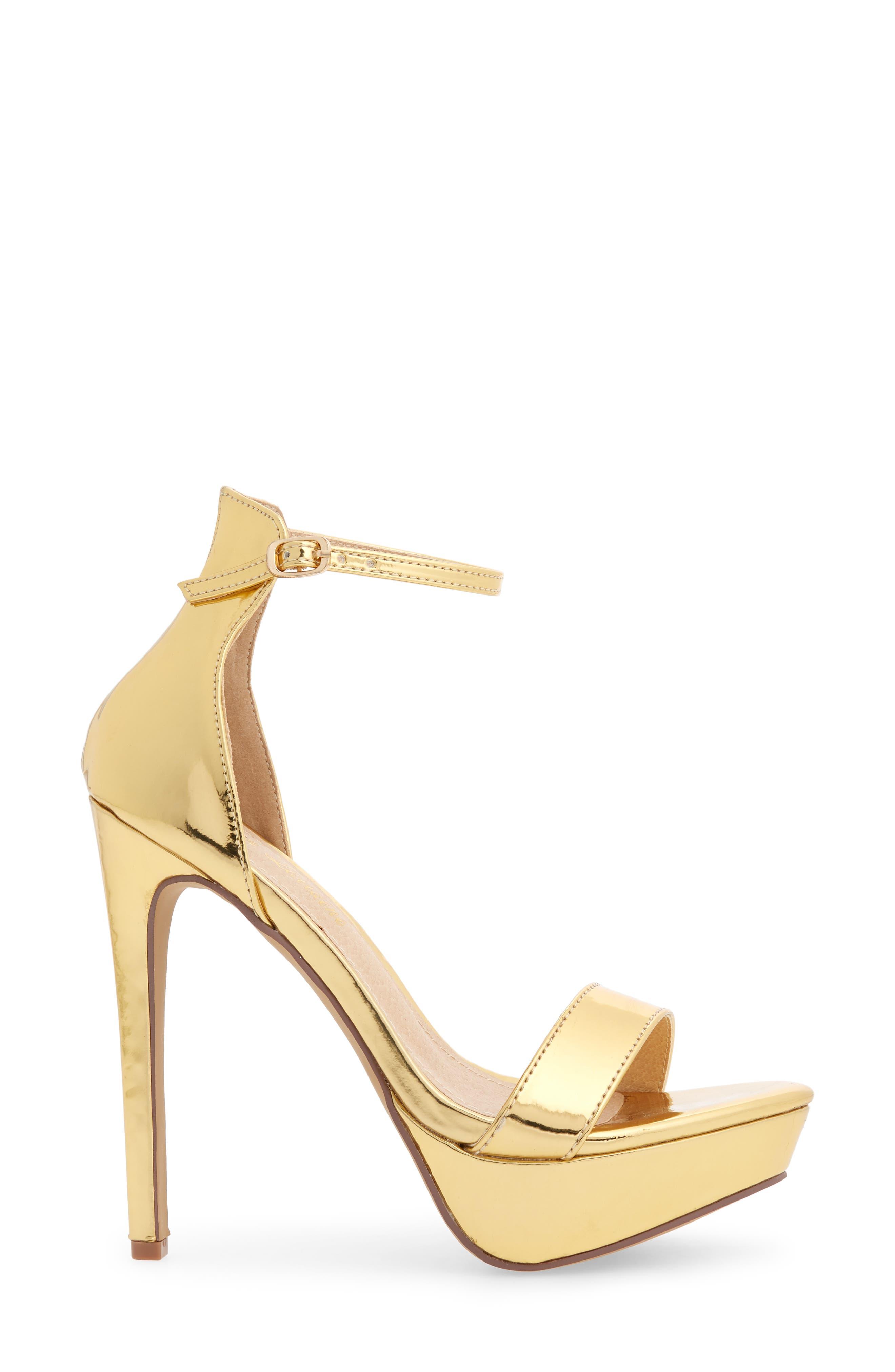 Darlene Platform Sandal,                             Alternate thumbnail 3, color,                             Gold