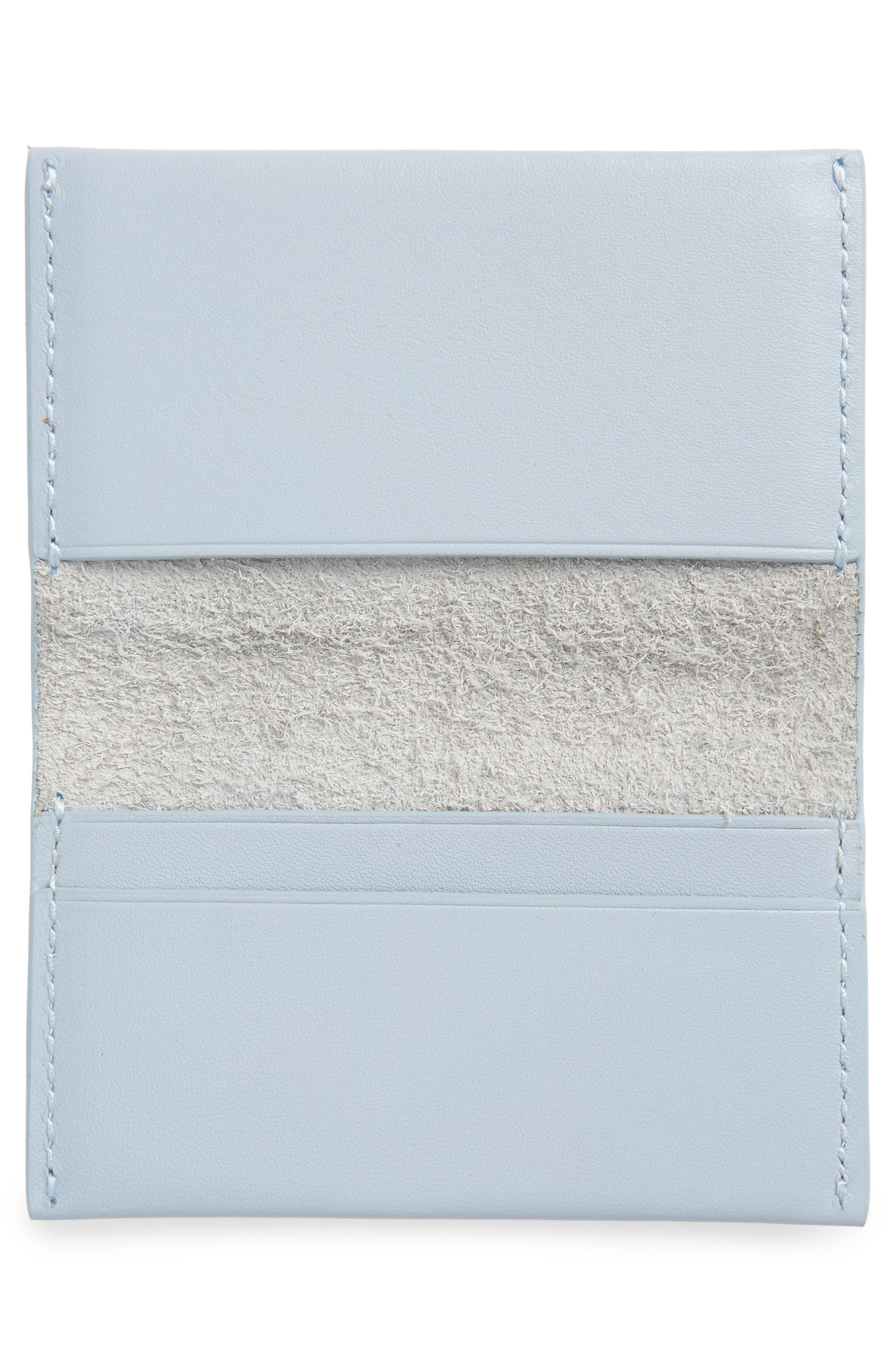 Leather Card Case,                             Alternate thumbnail 2, color,                             Powder Blue