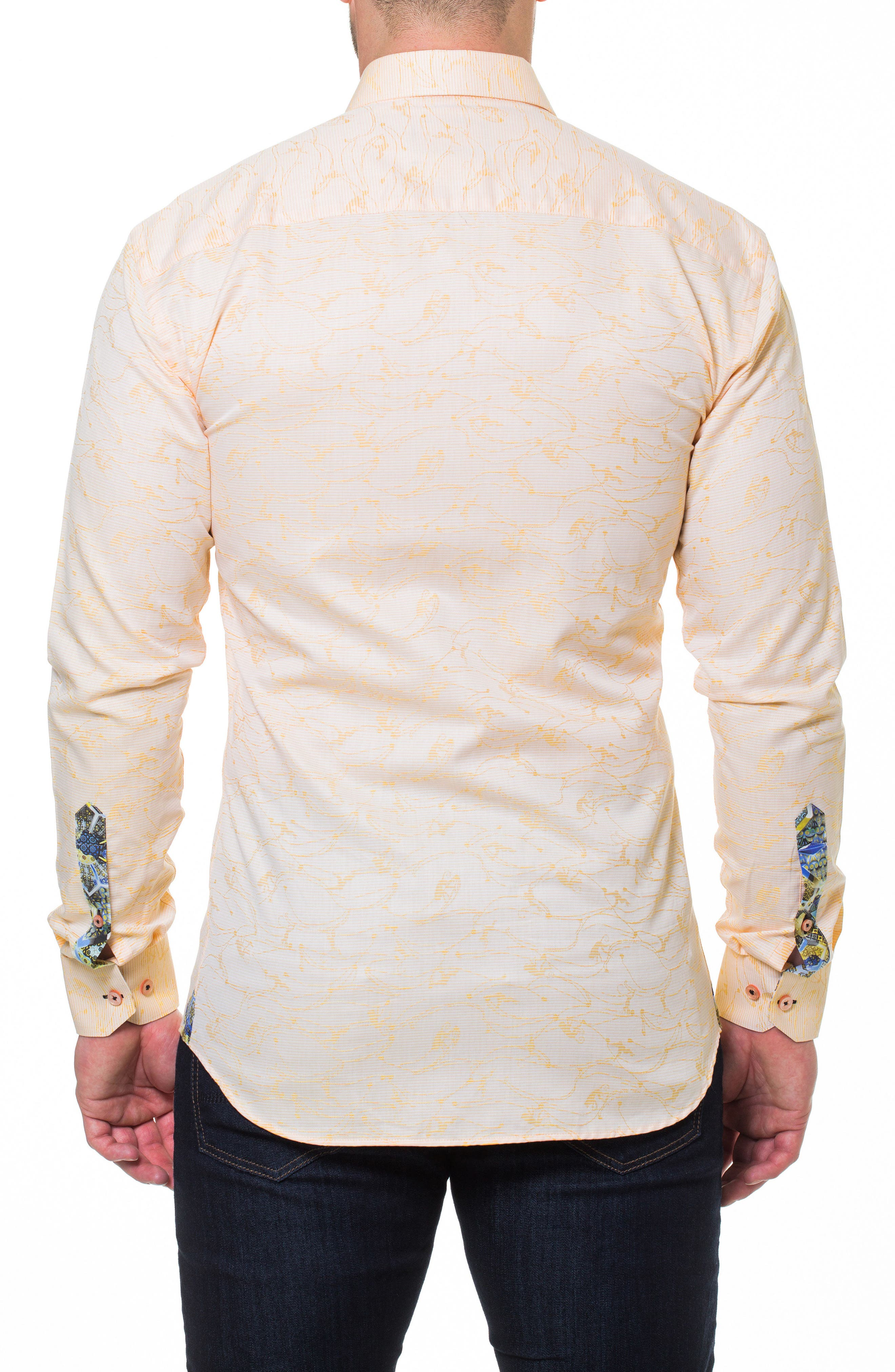 Luxor Monkey Slim Fit Sport Shirt,                             Alternate thumbnail 2, color,                             Yellow
