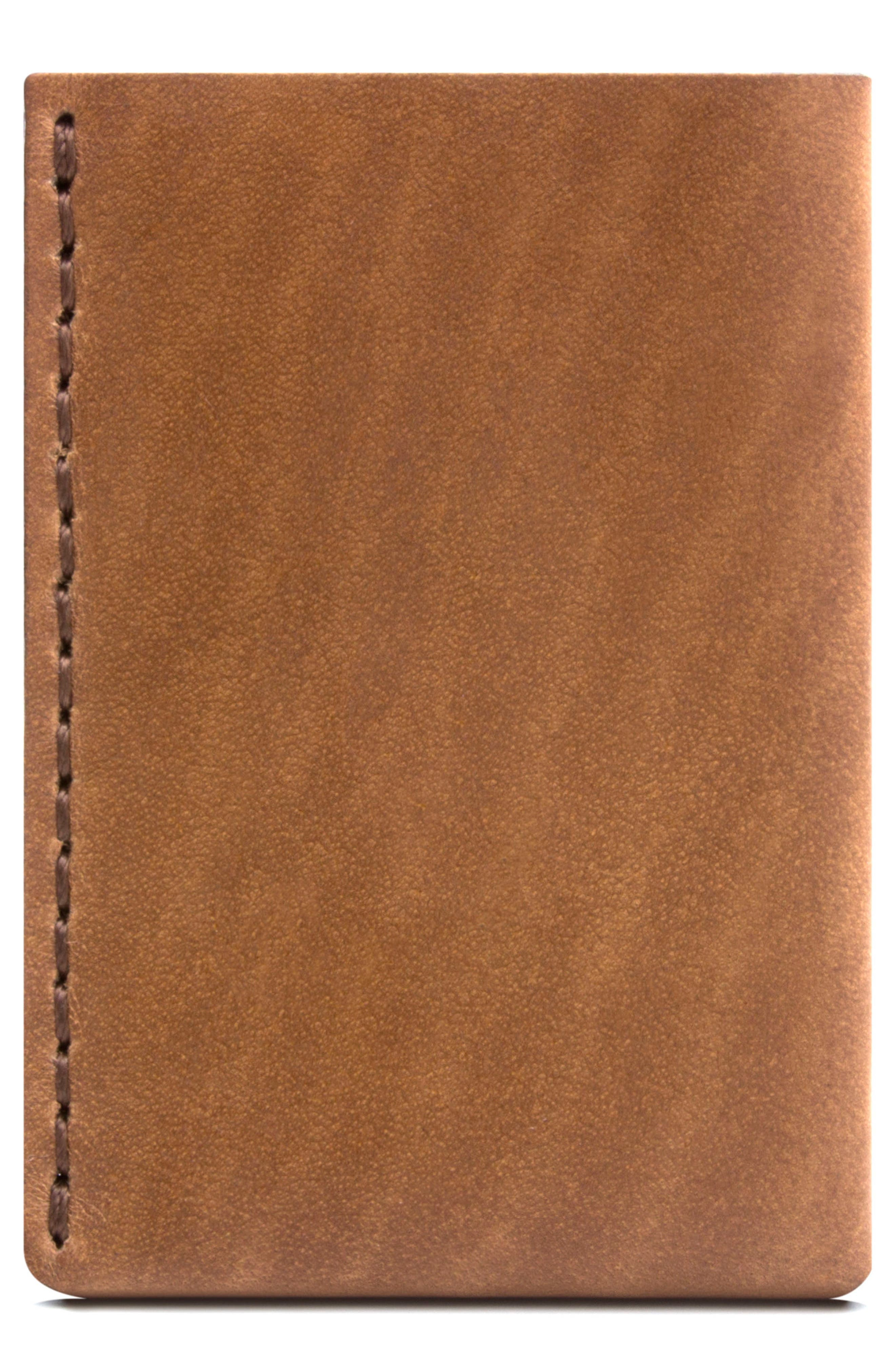 No. 7 Leather Wallet,                         Main,                         color, Whiskey