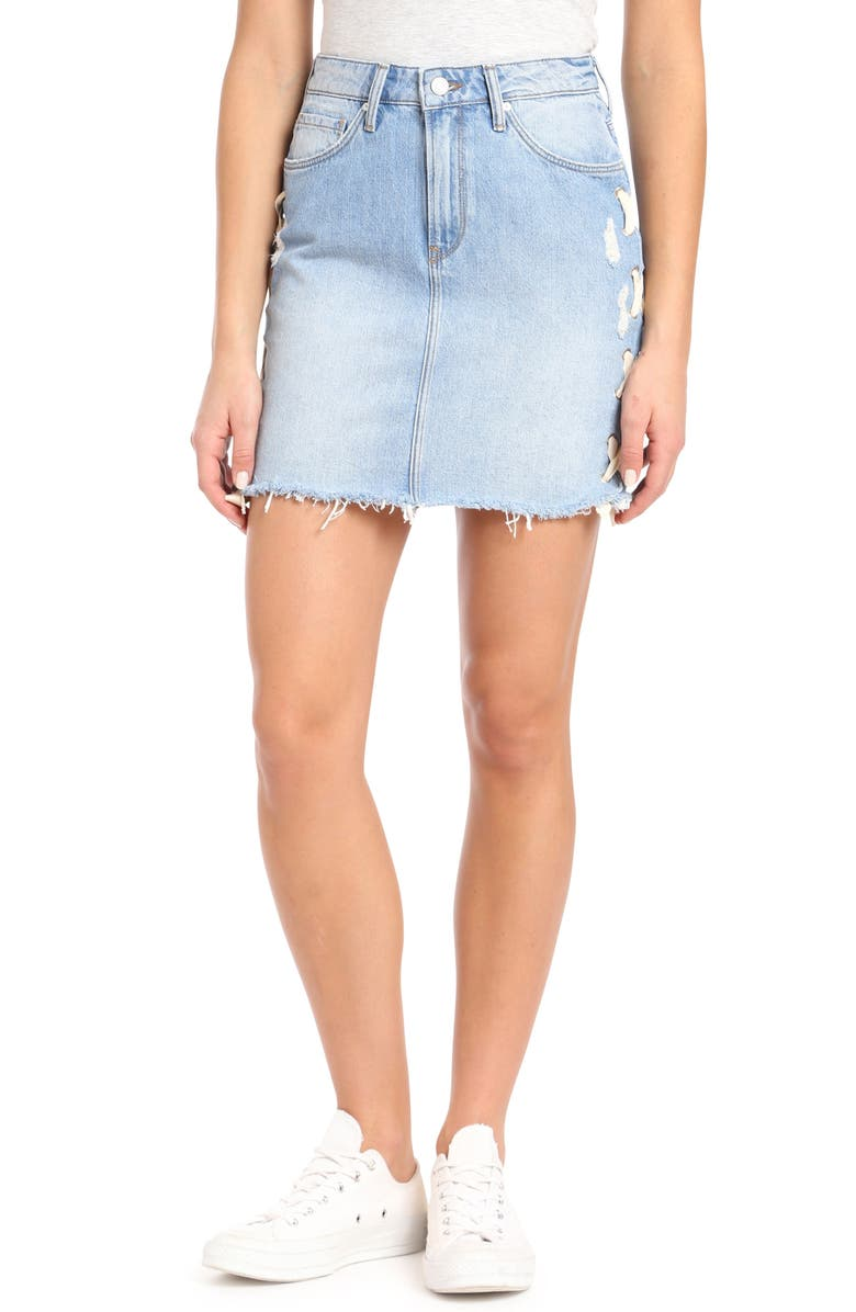 Frida Lace-Up Denim Skirt