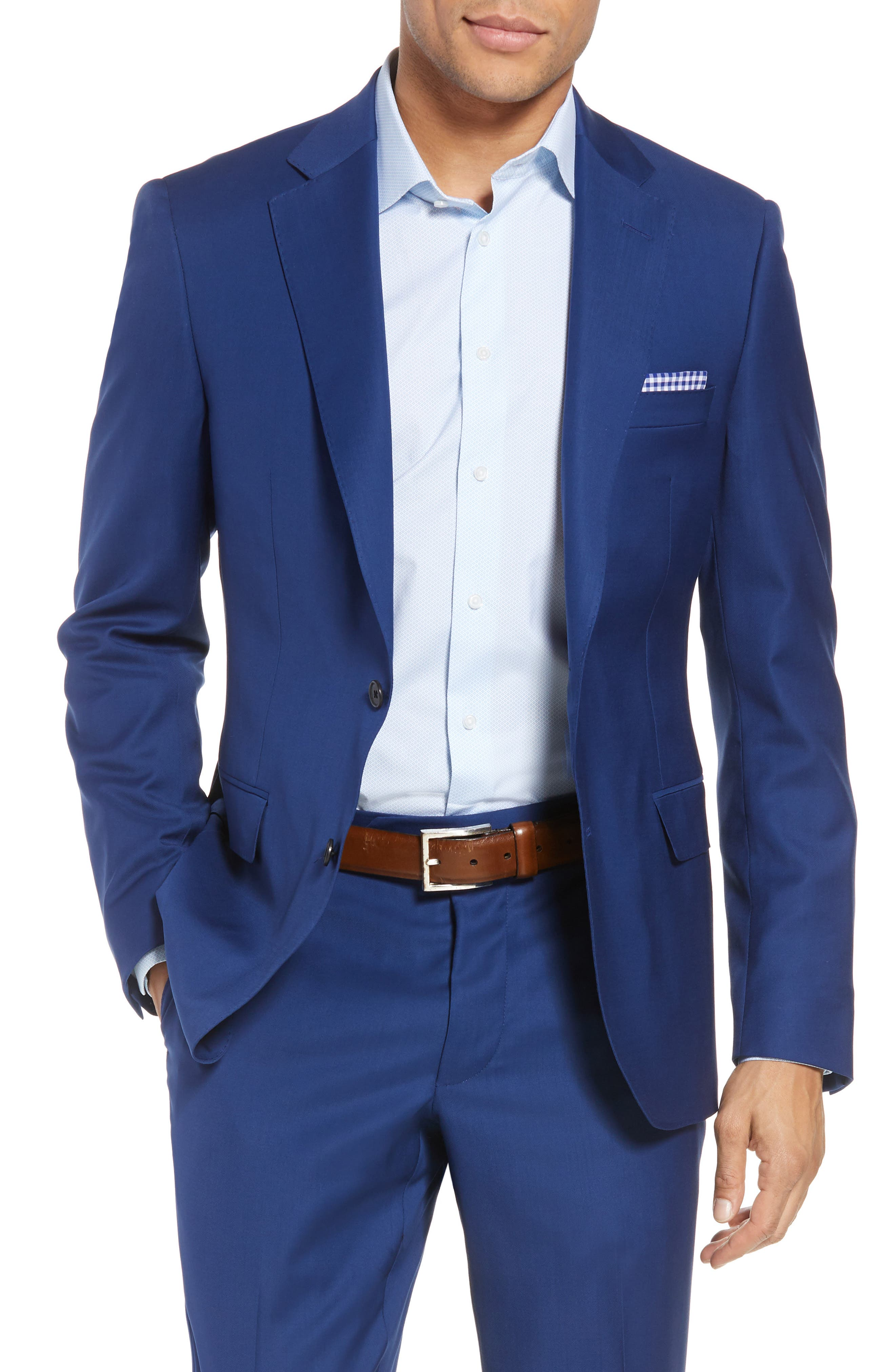 Bennet Classic Fit Solid Wool Suit,                             Alternate thumbnail 5, color,                             High Blue