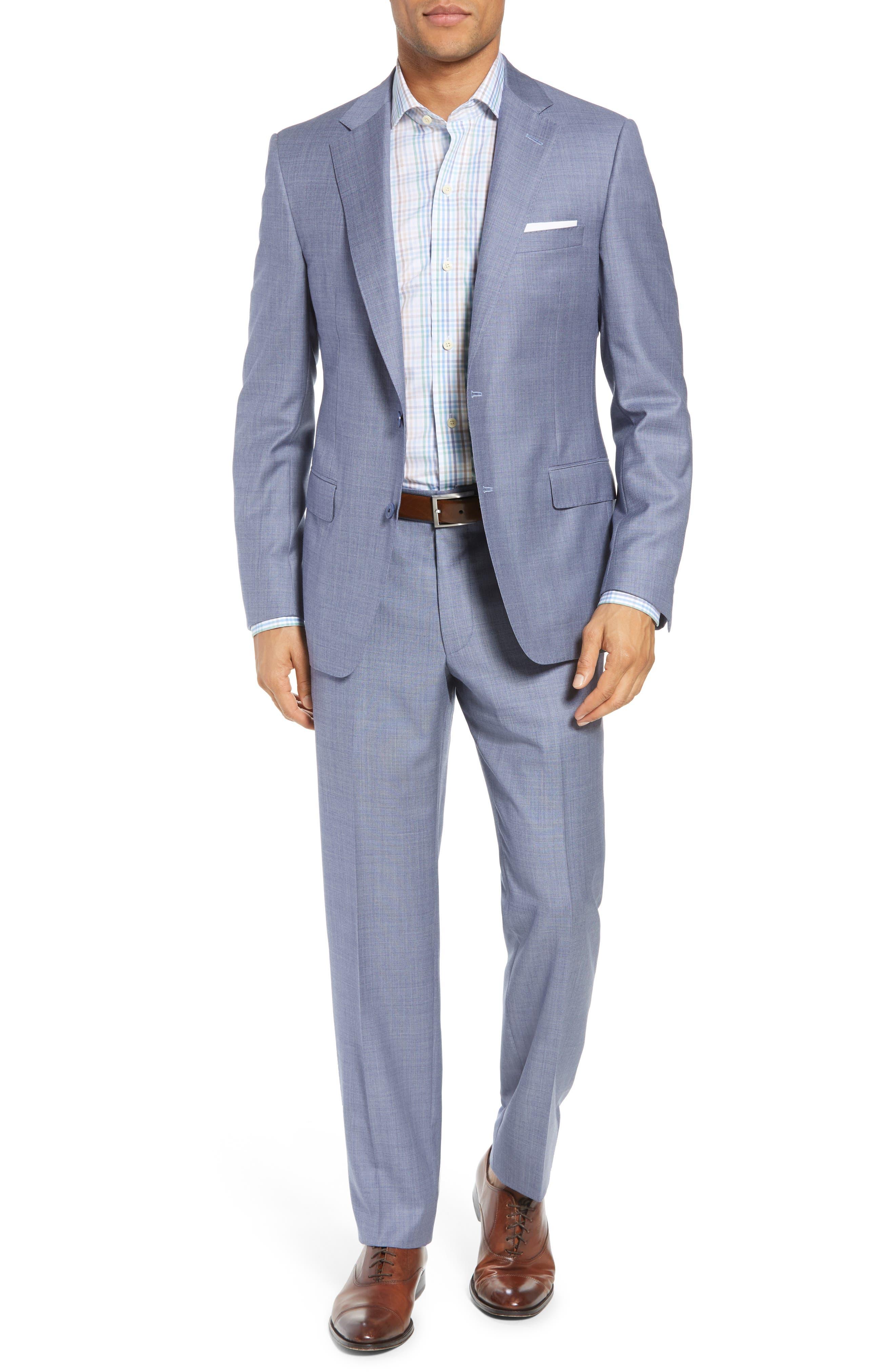 Samuelsohn Classic Fit Solid Wool Suit