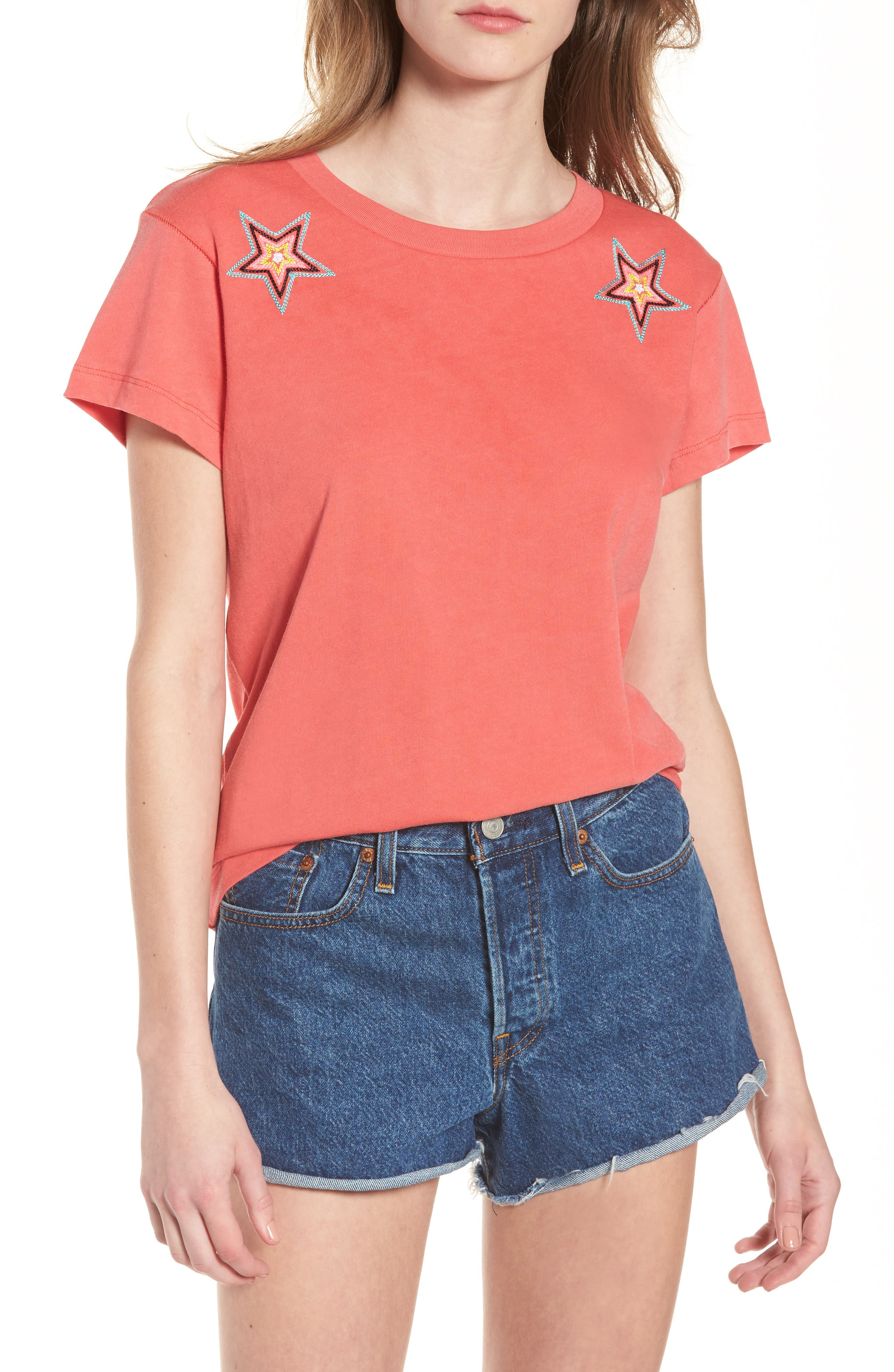 Starbright Number 9 Tee,                         Main,                         color, Pigment Red Flare