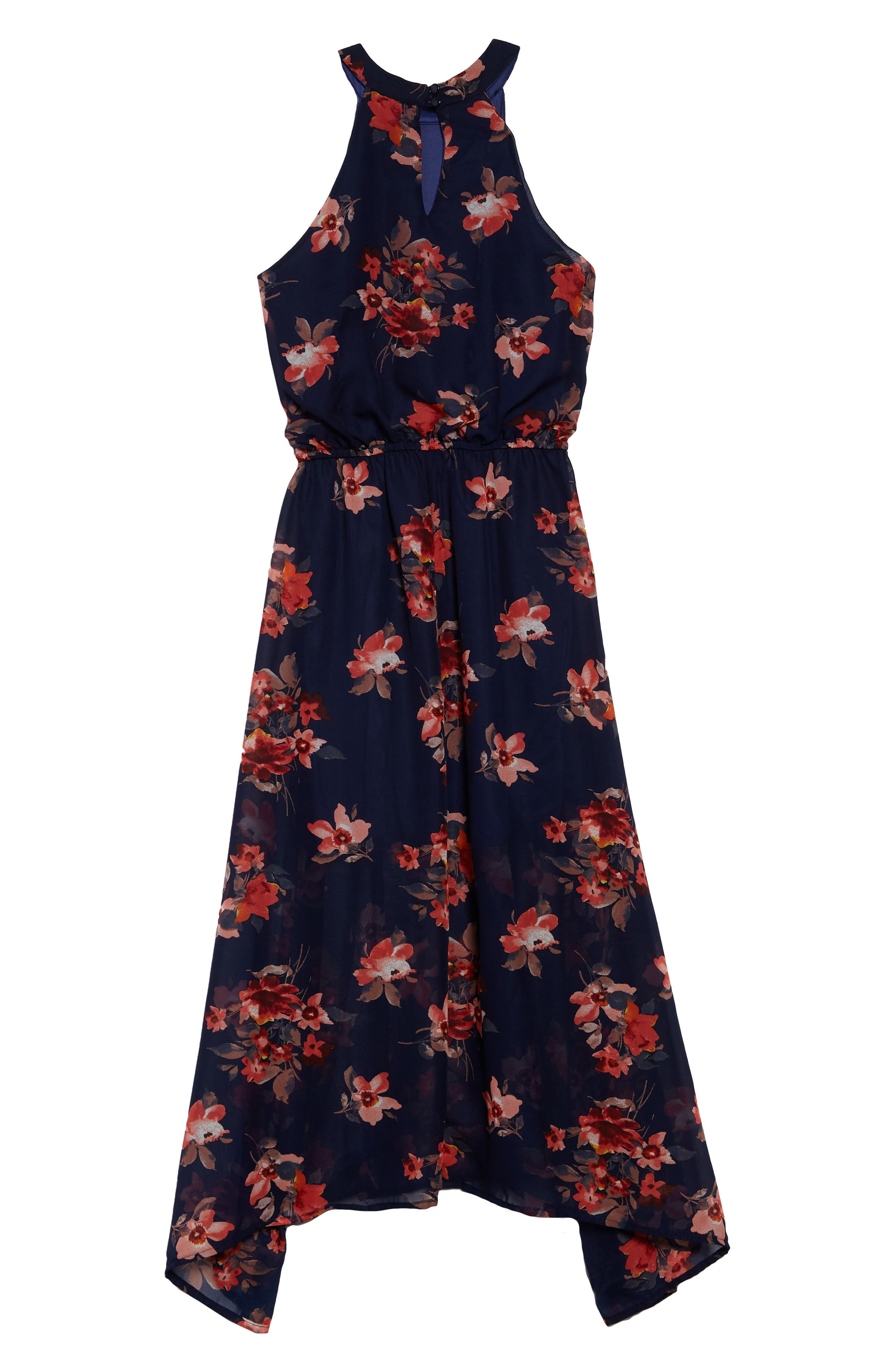 Print Maxi Dress,                             Alternate thumbnail 2, color,                             Navy Multi