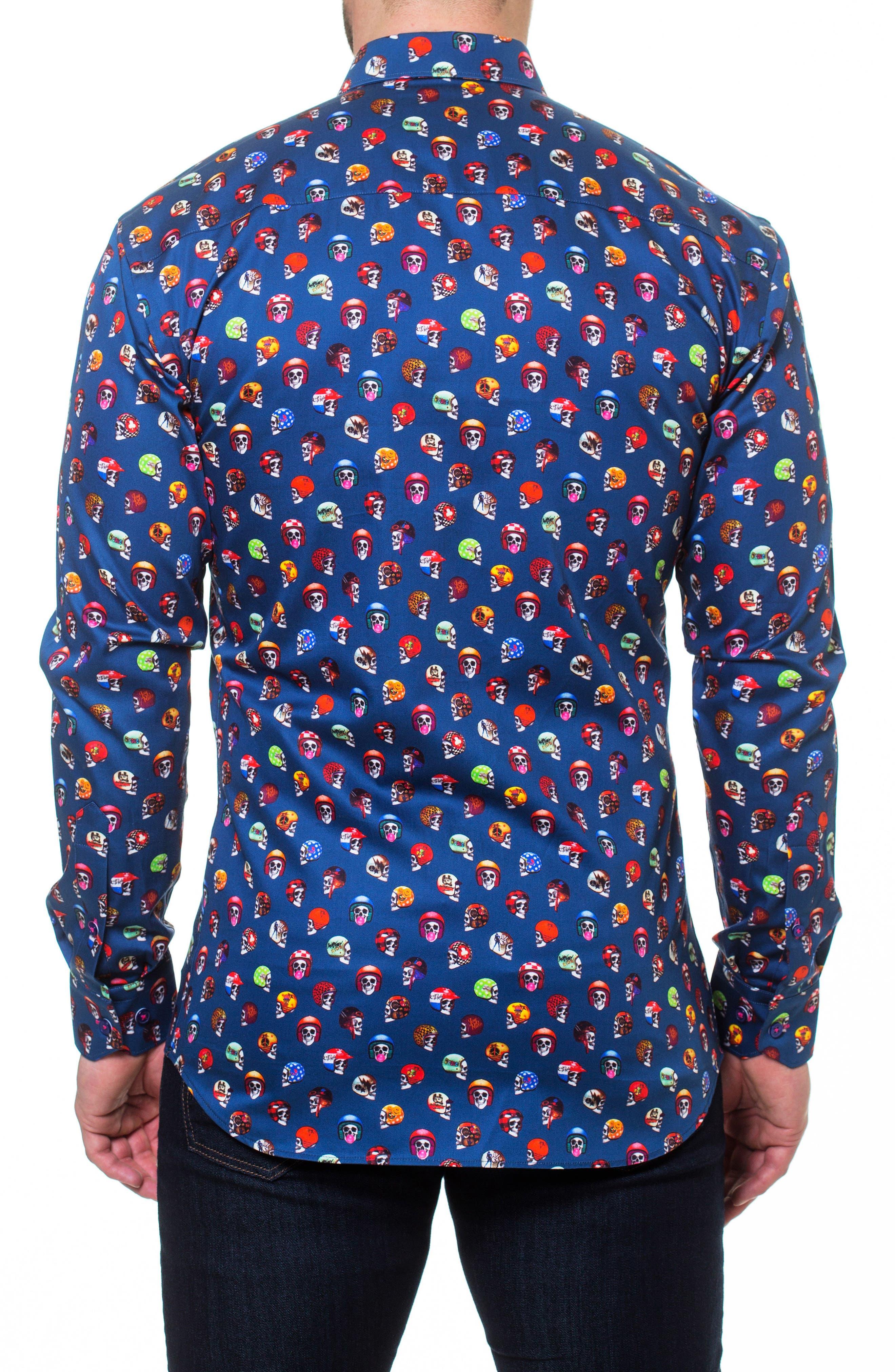 Luxor Rider Slim Fit Sport Shirt,                             Alternate thumbnail 2, color,                             Blue